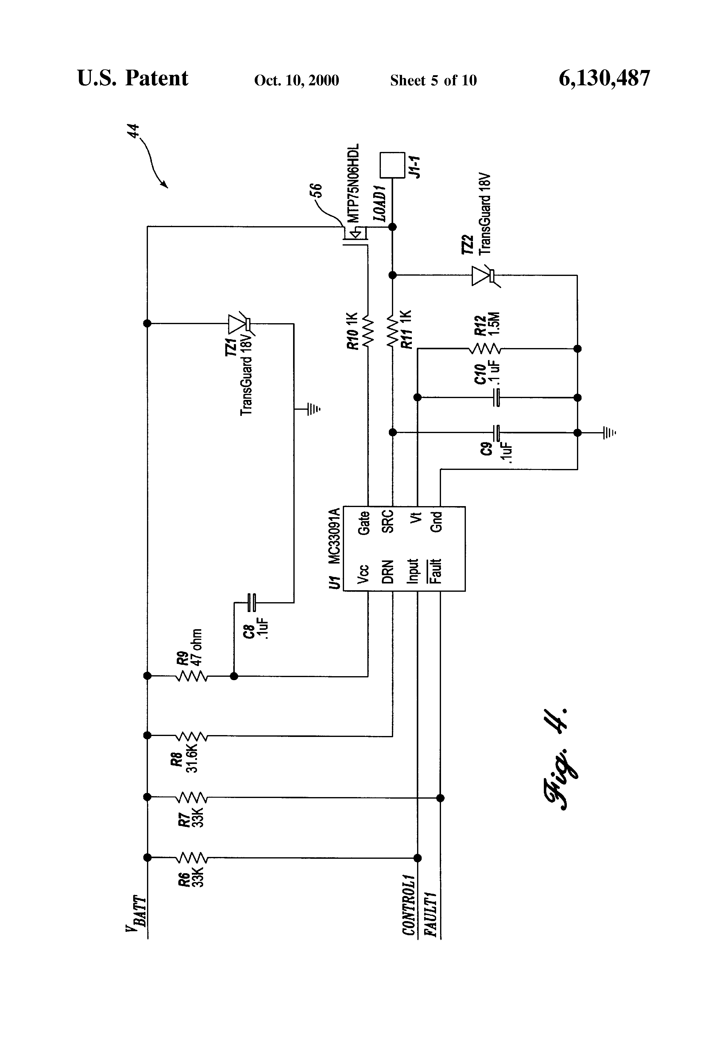 patent us6130487 electronic interface and method for connecting patent drawing