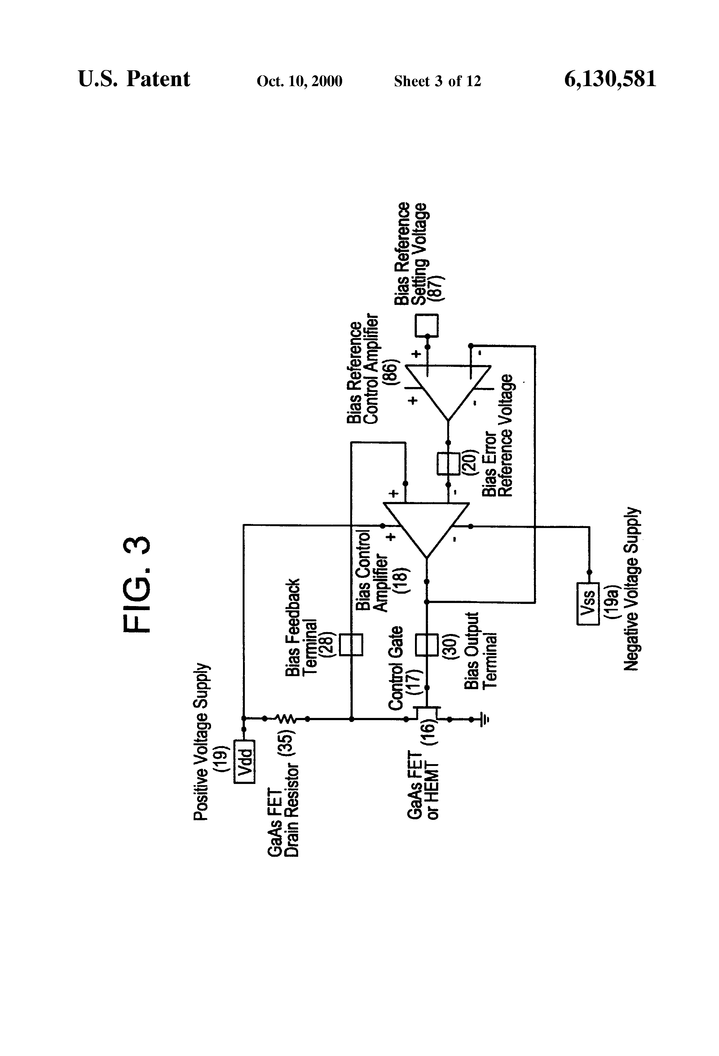 Patent Us6130581 Bias Control For Gain Stabilization Google Patents Fet Biasing Drawing