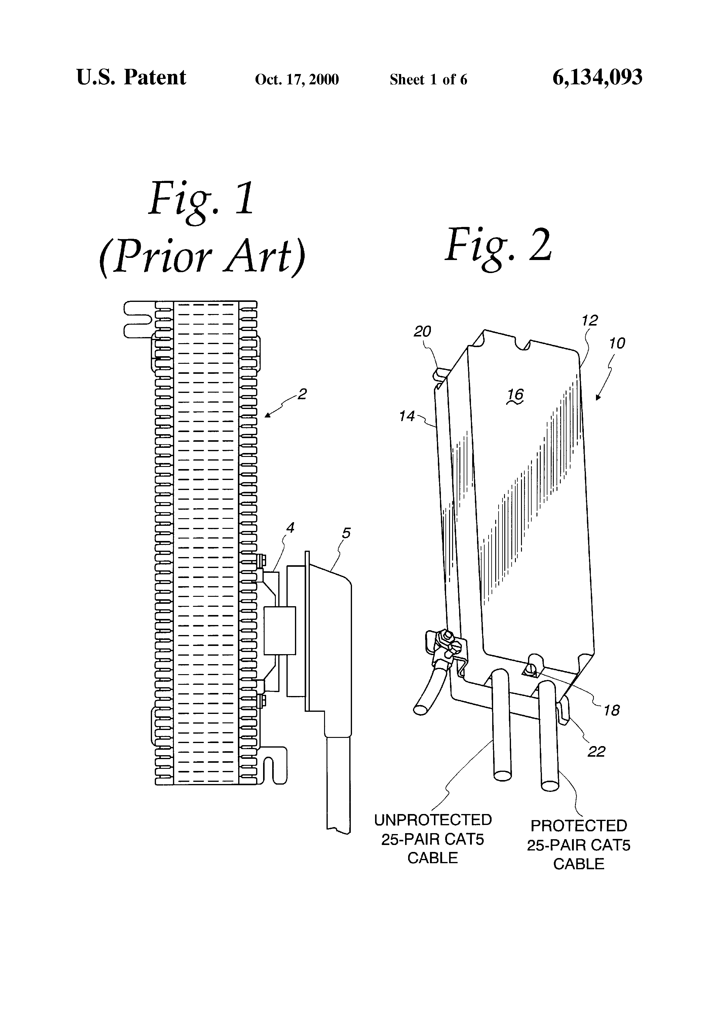 patent us6134093 - category 5  25-pair protector