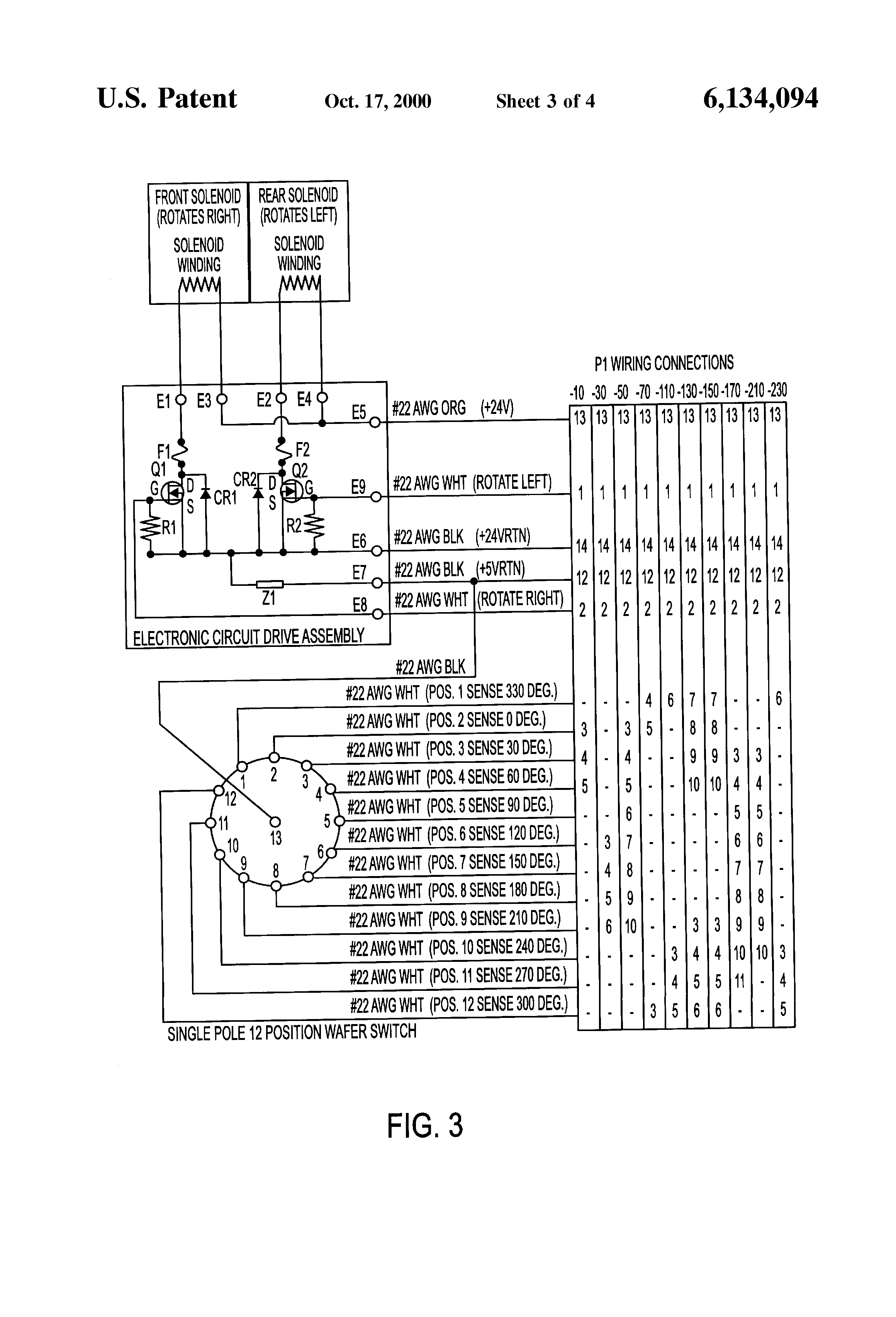 Patent Us6134094 Remotely Controlled Rotary Switch For Simulating Solenoid Diagram Circuit Driving Drawing