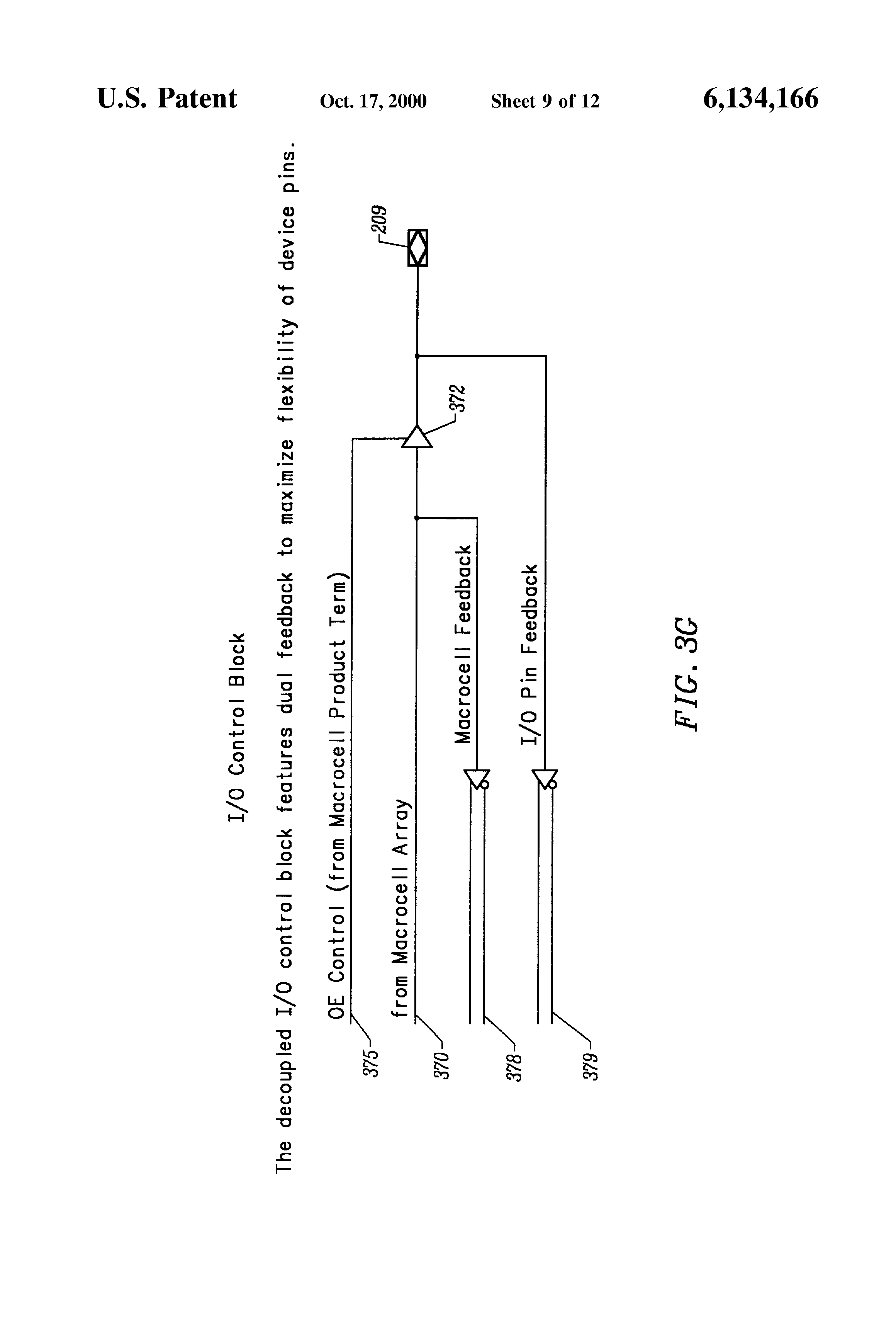 Patent Us6134166 Programmable Logic Array Integrated Circuit Popular Drawing