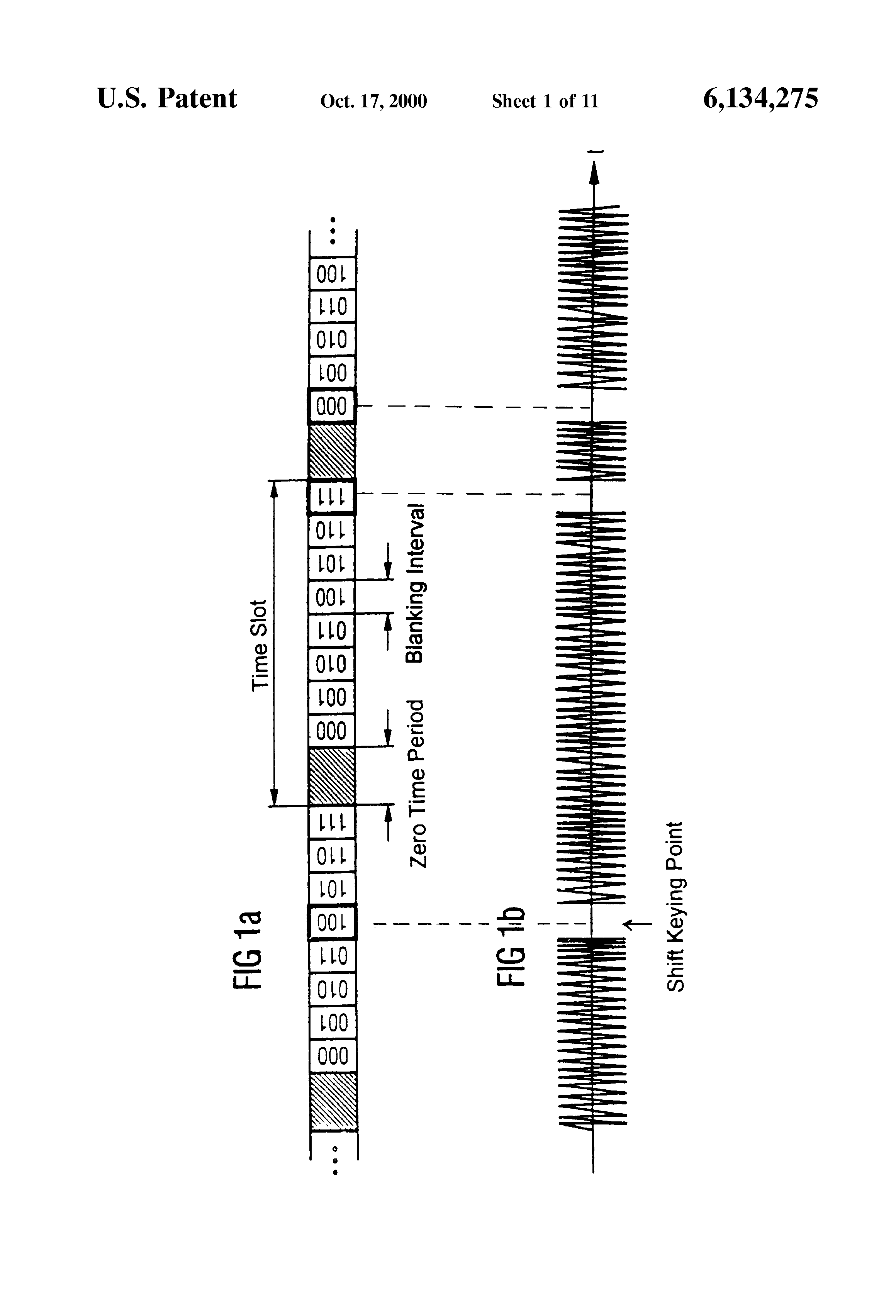 Patent Us6134275 Method For Transmitting Data Between A Terminal Radio Control Link And Ask Amplitude Shift Keying Modulation Drawing