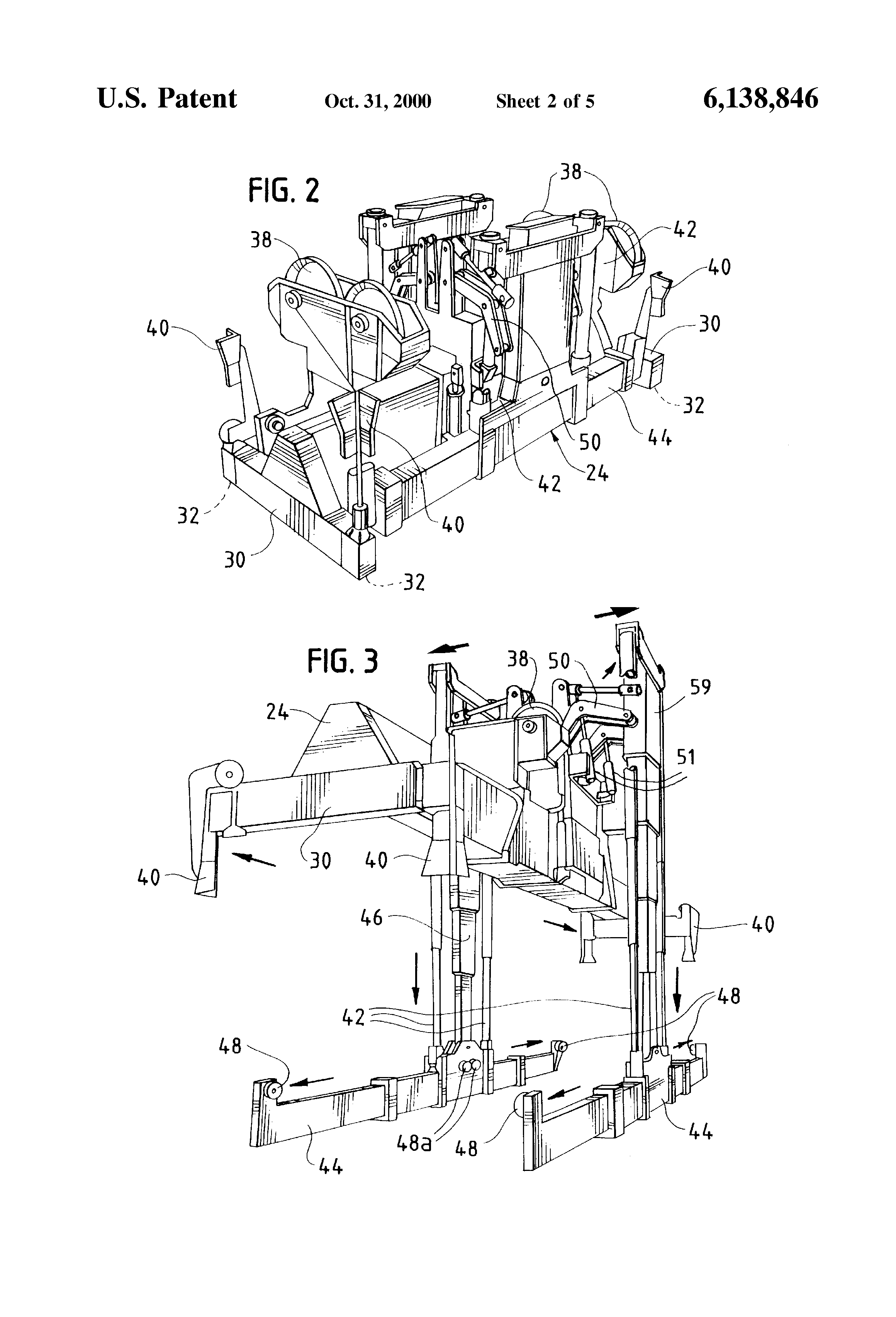 Patent Us6138846 Adjustable Expansible Load Lifting Device 02 F250 Fuel Pump Wiring Diagram Drawing