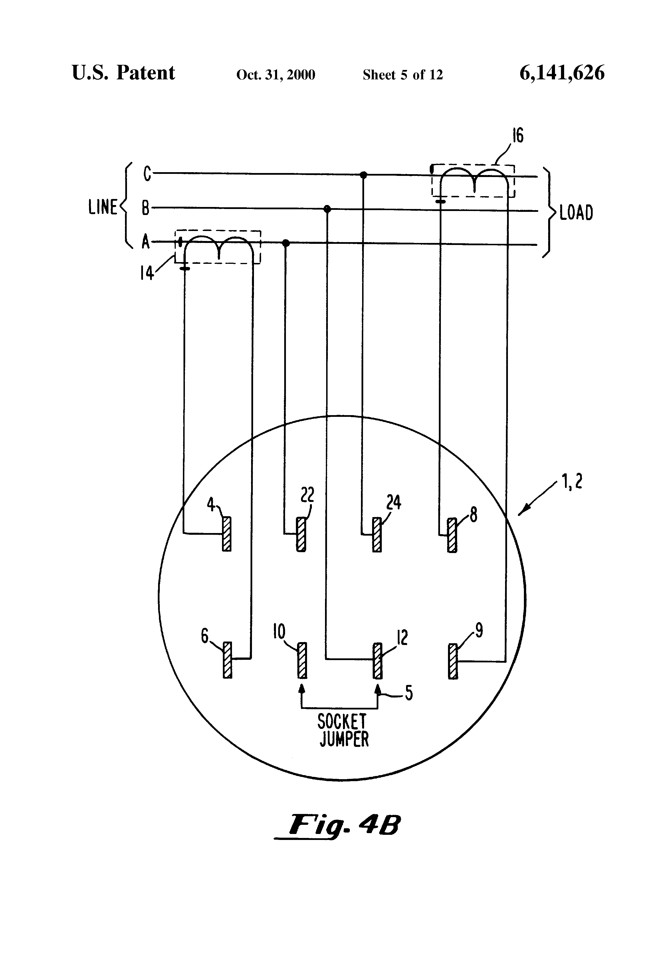 US6141626 5 patent us6141626 two element energy meter having systems for form 5s meter wiring diagram at bakdesigns.co