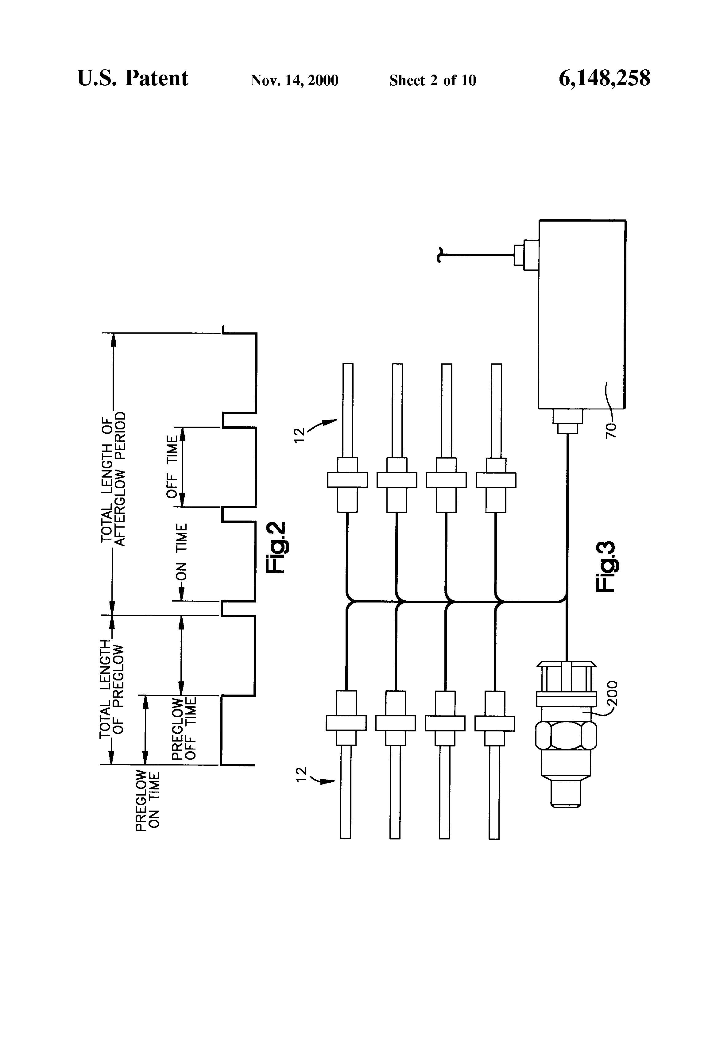 patent us6148258 electrical starting system for diesel engines patent drawing