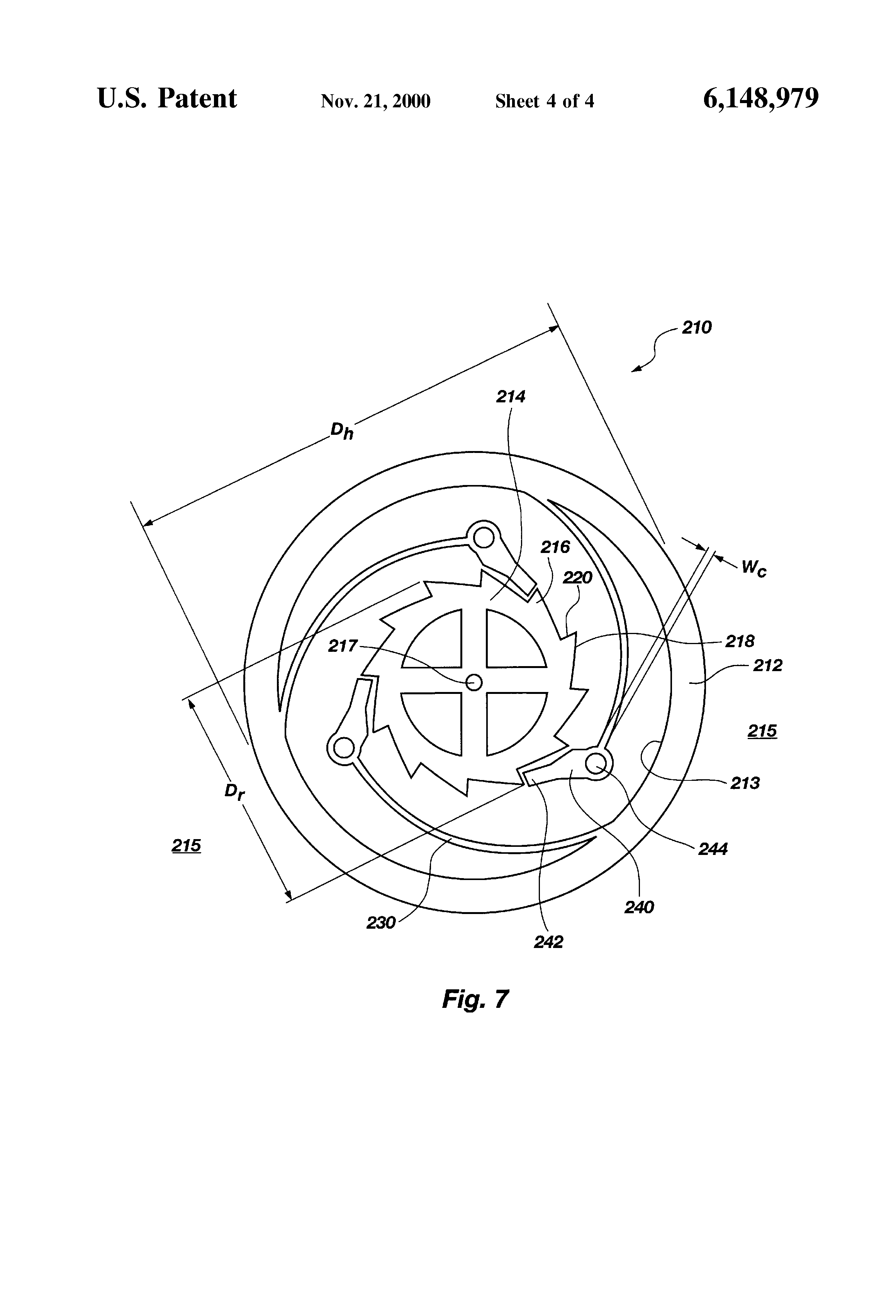 patent us6148979 - compliant overrunning clutch with centrifugal throw-out