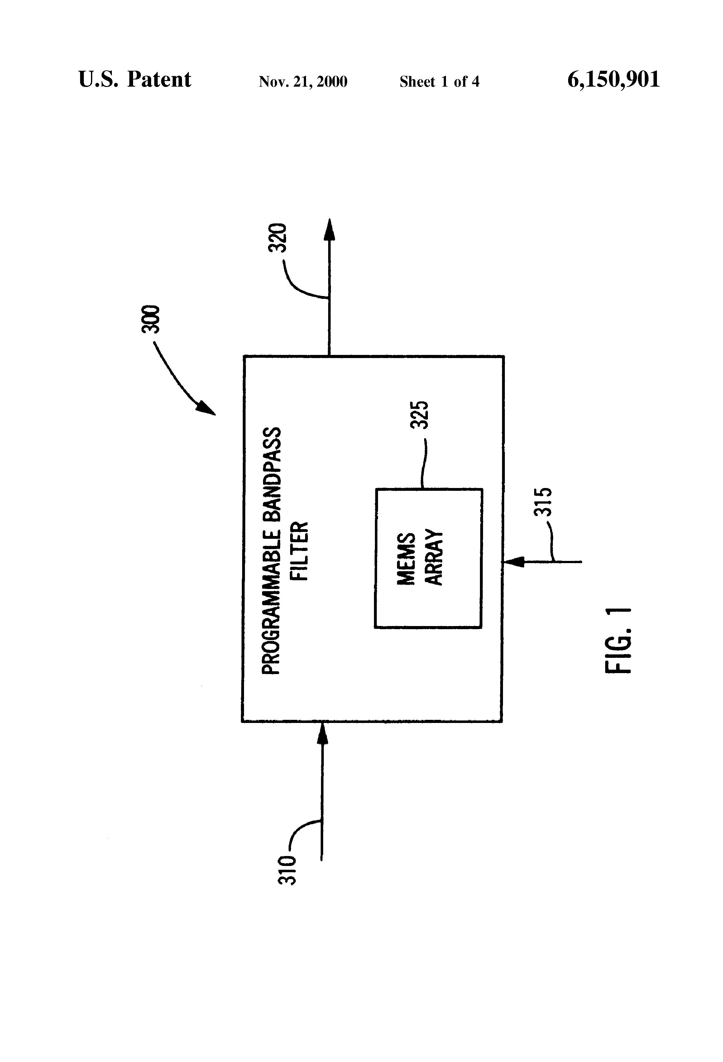 patent us6150901  if bandpass filter