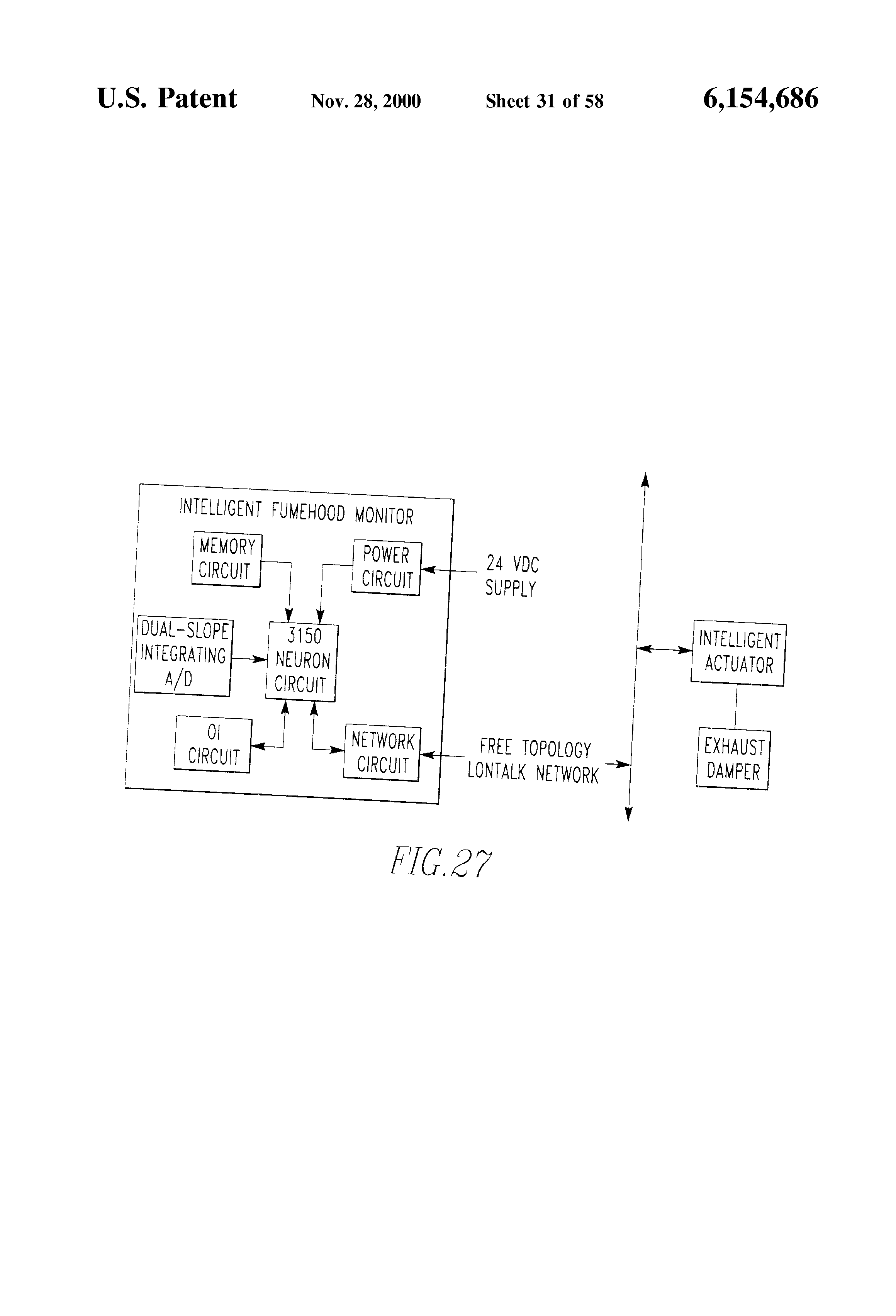 Patent Us6154686 Distributed Architecture Google Patenti Trane Wiring Diagrams Model Echalon Drawing