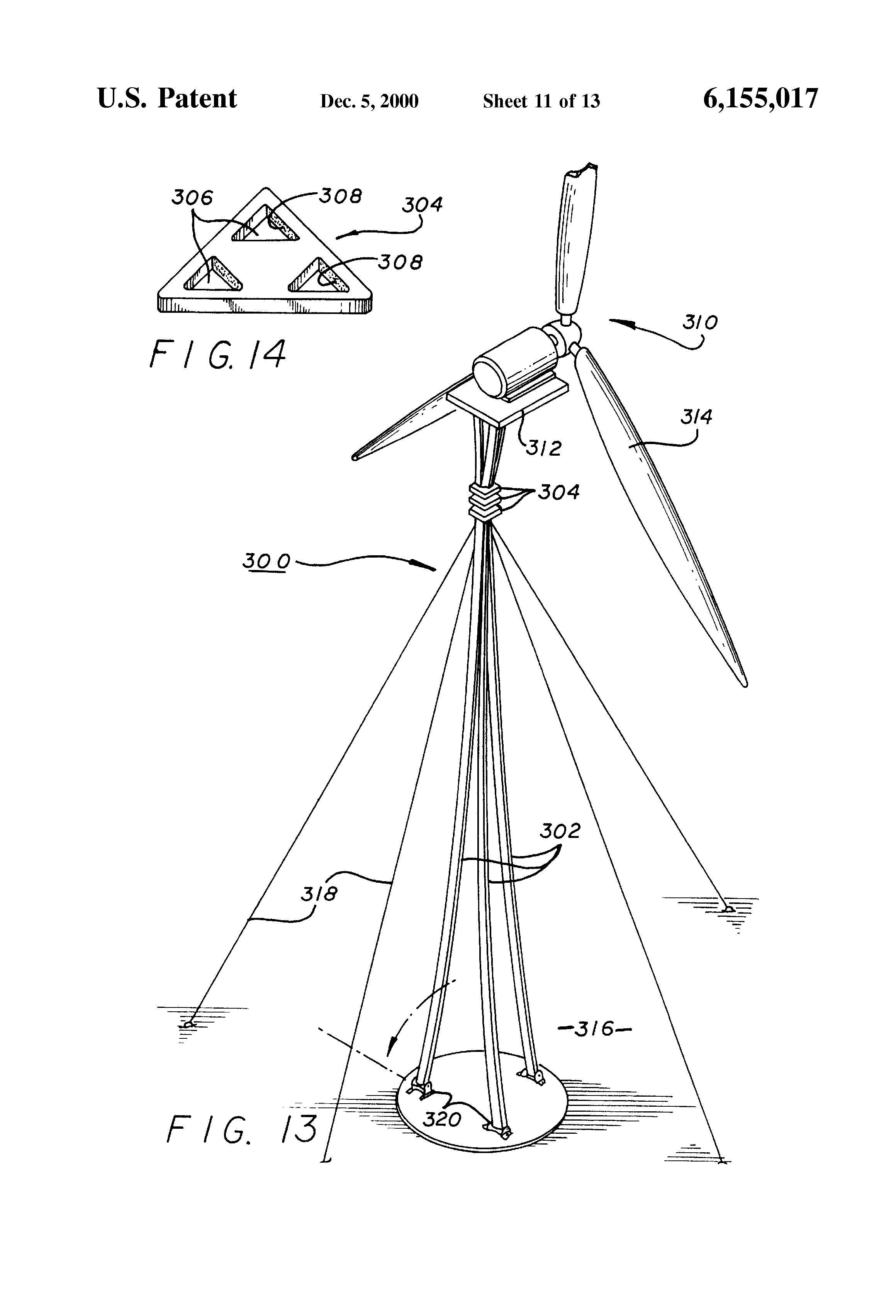 patent us6155017 - truss structure