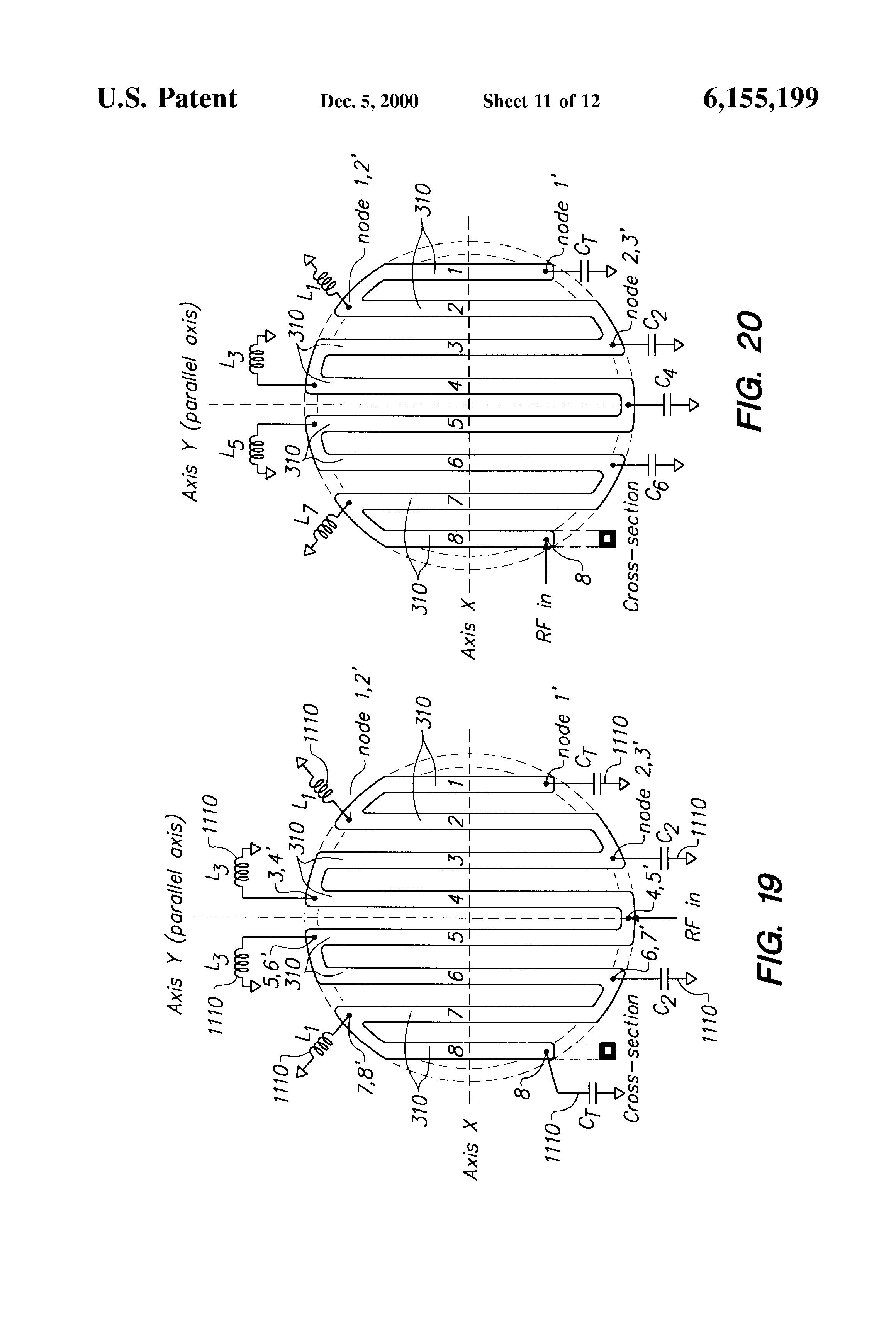 patent us6155199 - parallel-antenna transformer-coupled plasma generation system