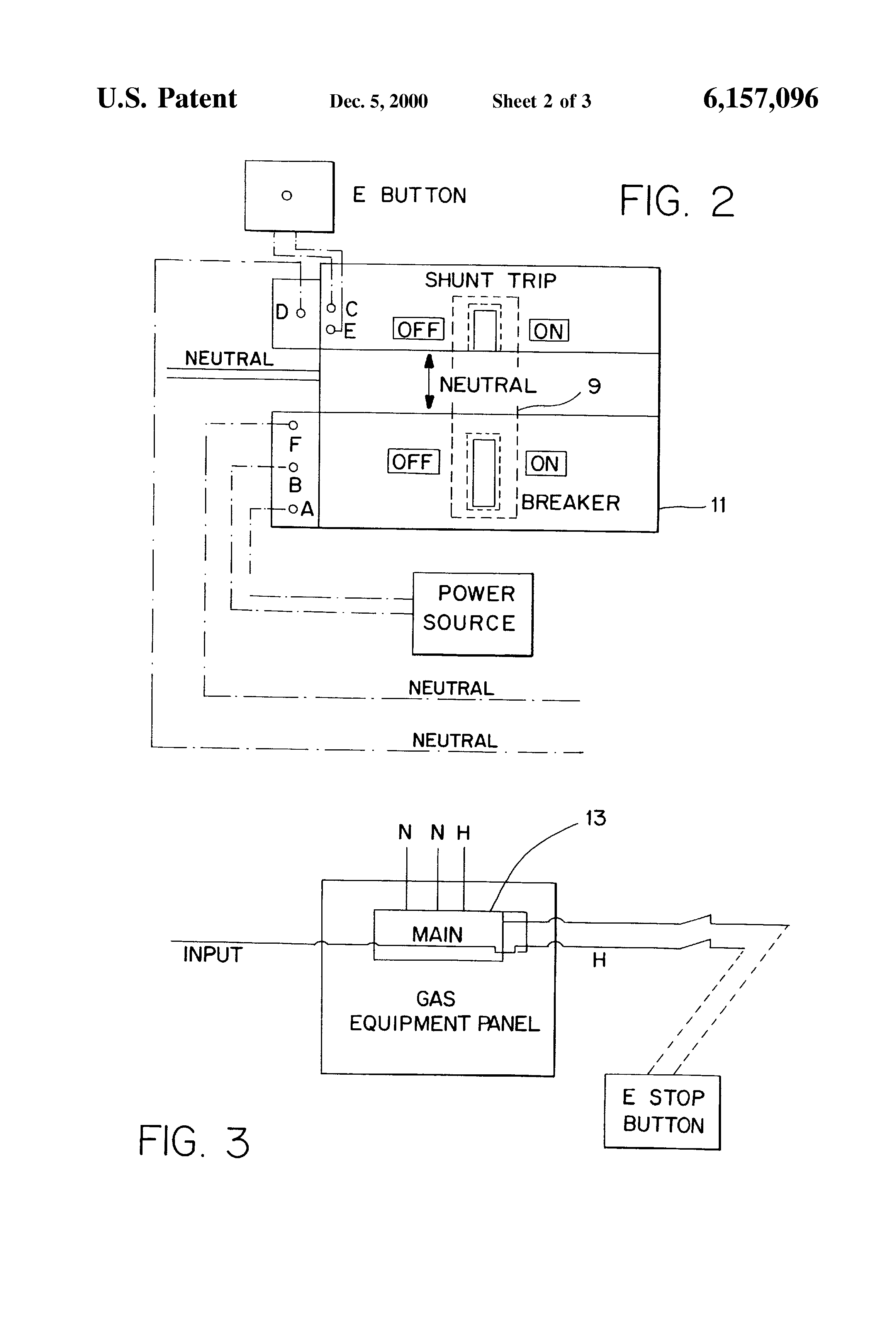US6157096 2 patent us6157096 neutral switched shunt trip emergency gas panel square d shunt trip diagram at mifinder.co