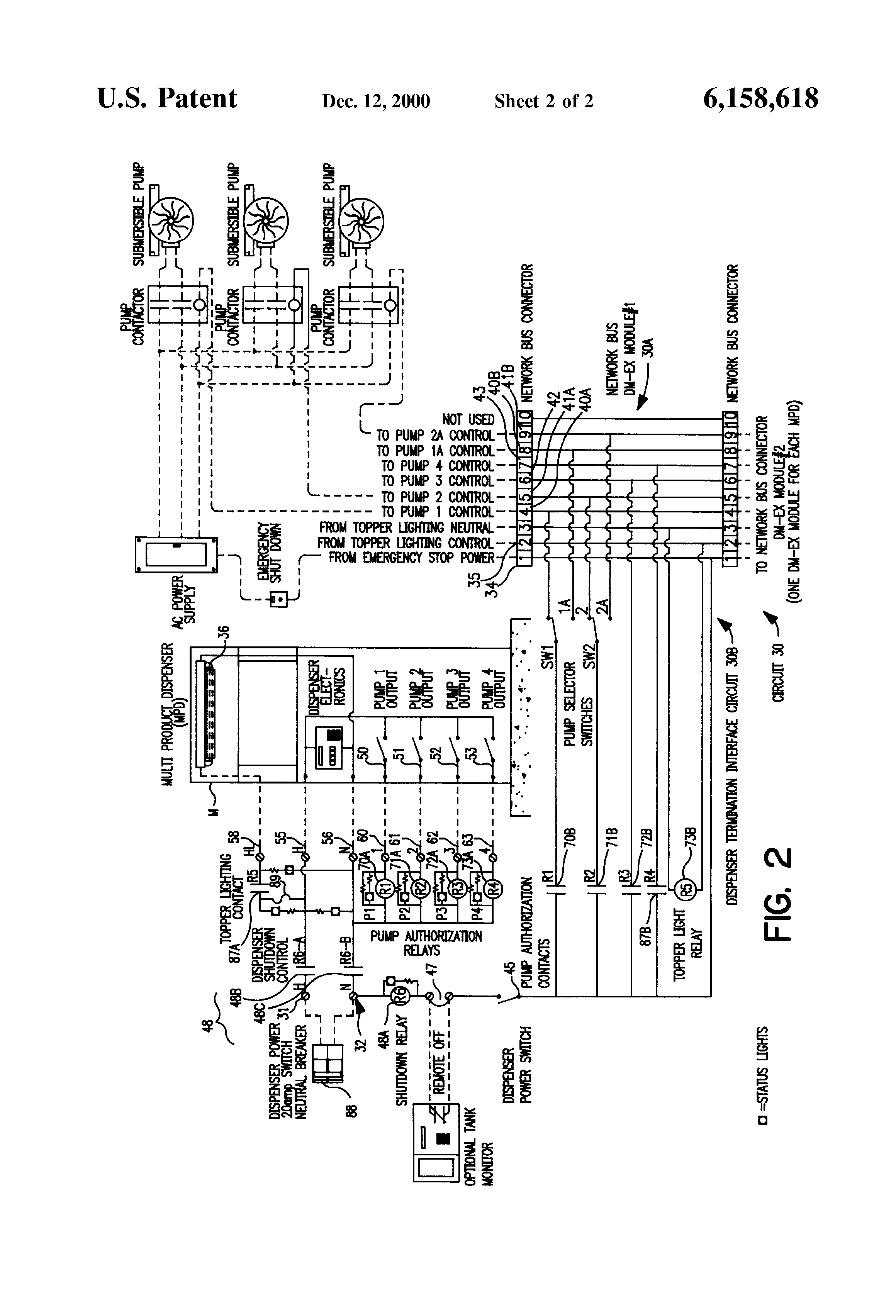 US6158618 2 patent us6158618 control circuit for multi product fuel gilbarco advantage wiring diagram at arjmand.co