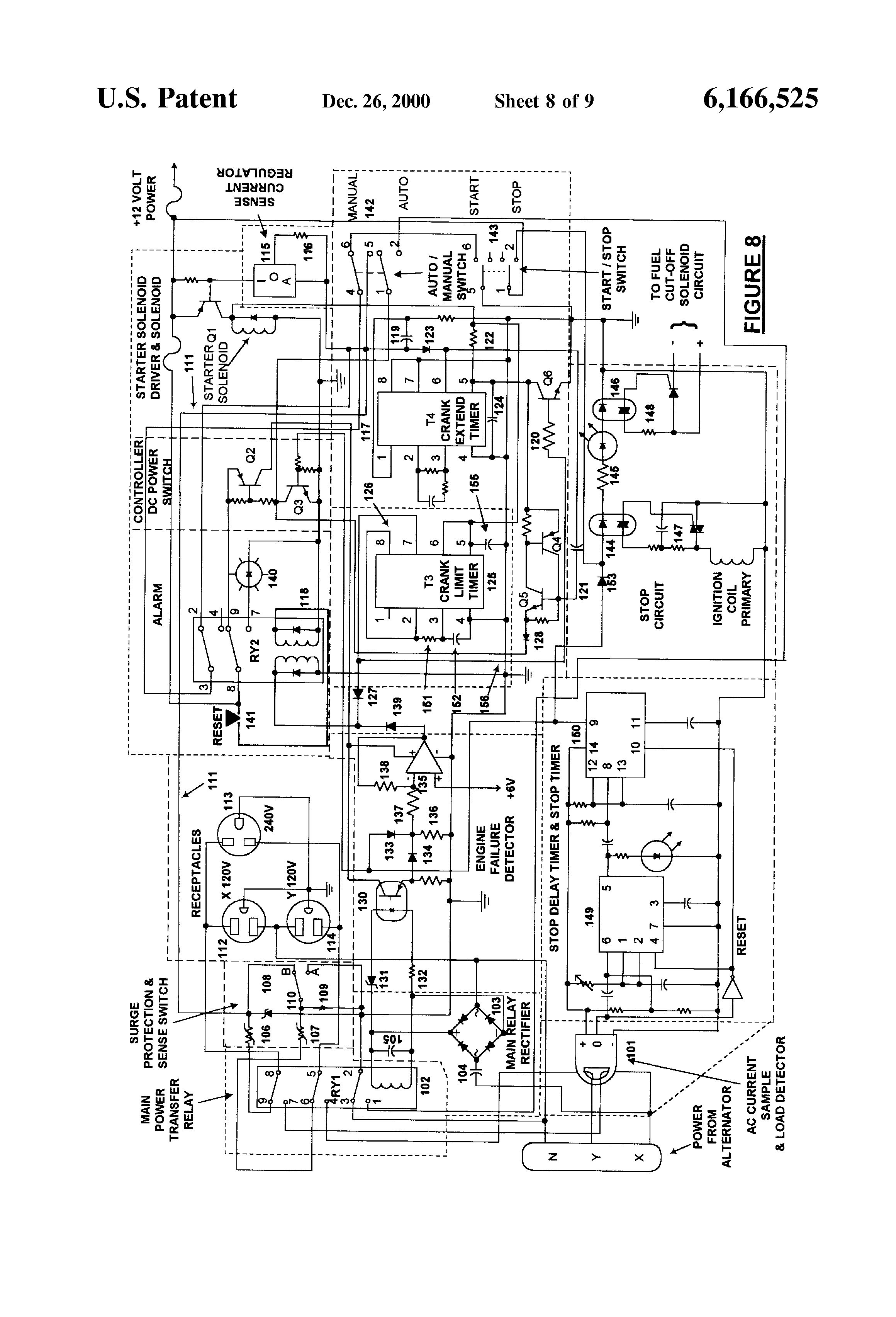 patent us6166525 - automatic electric power generator control