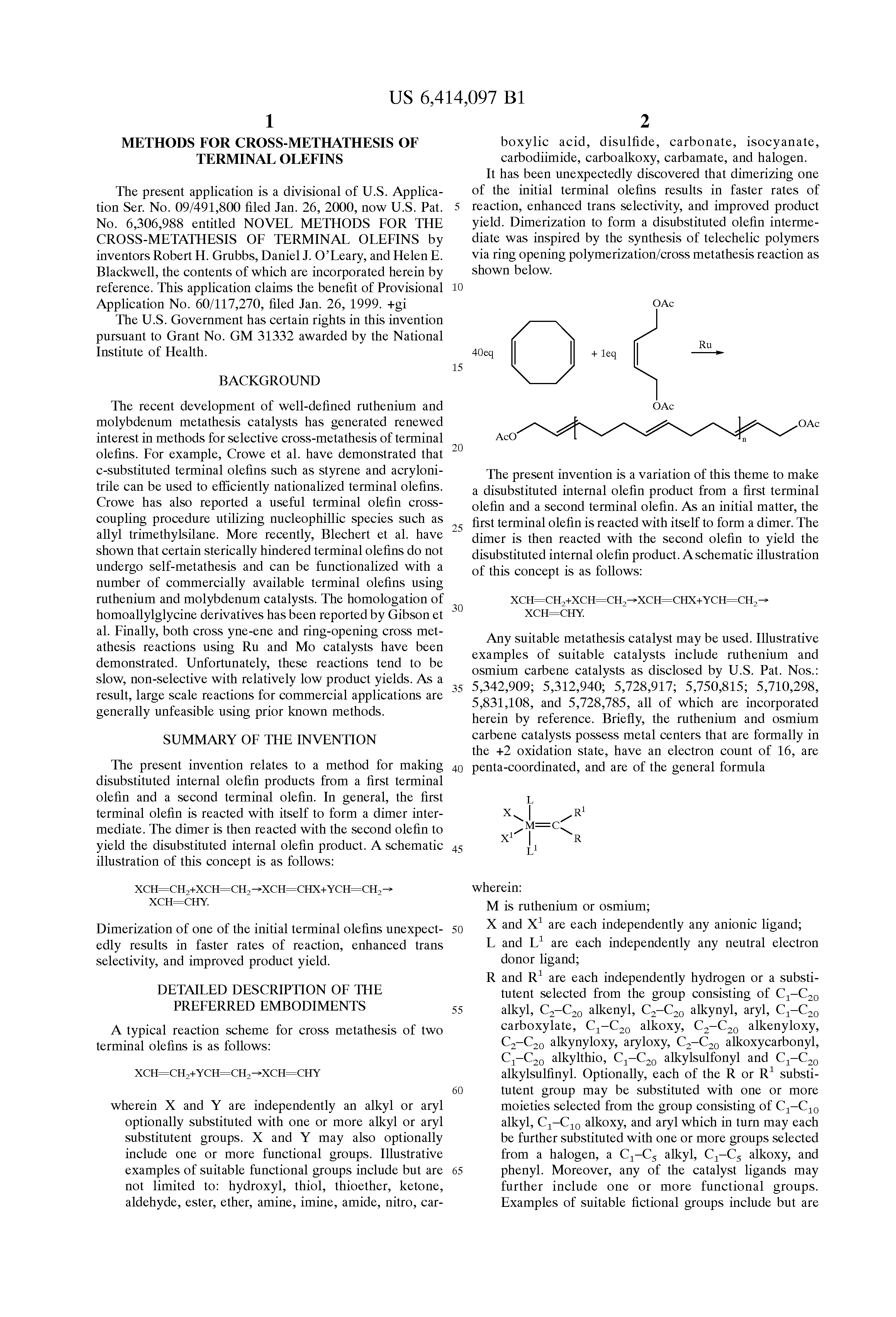 of methathesis Olefin metathesis in organic synthesis wendy jen macmillan group meeting january 17, 2001 i well-defined alkene metathesis catalysts ii applications of olefin metathesis a ring closing metathesis b cross metathesis c ring opening metathesis recent reviews: furstner, a angew chem int ed 2000, 39, 3013.