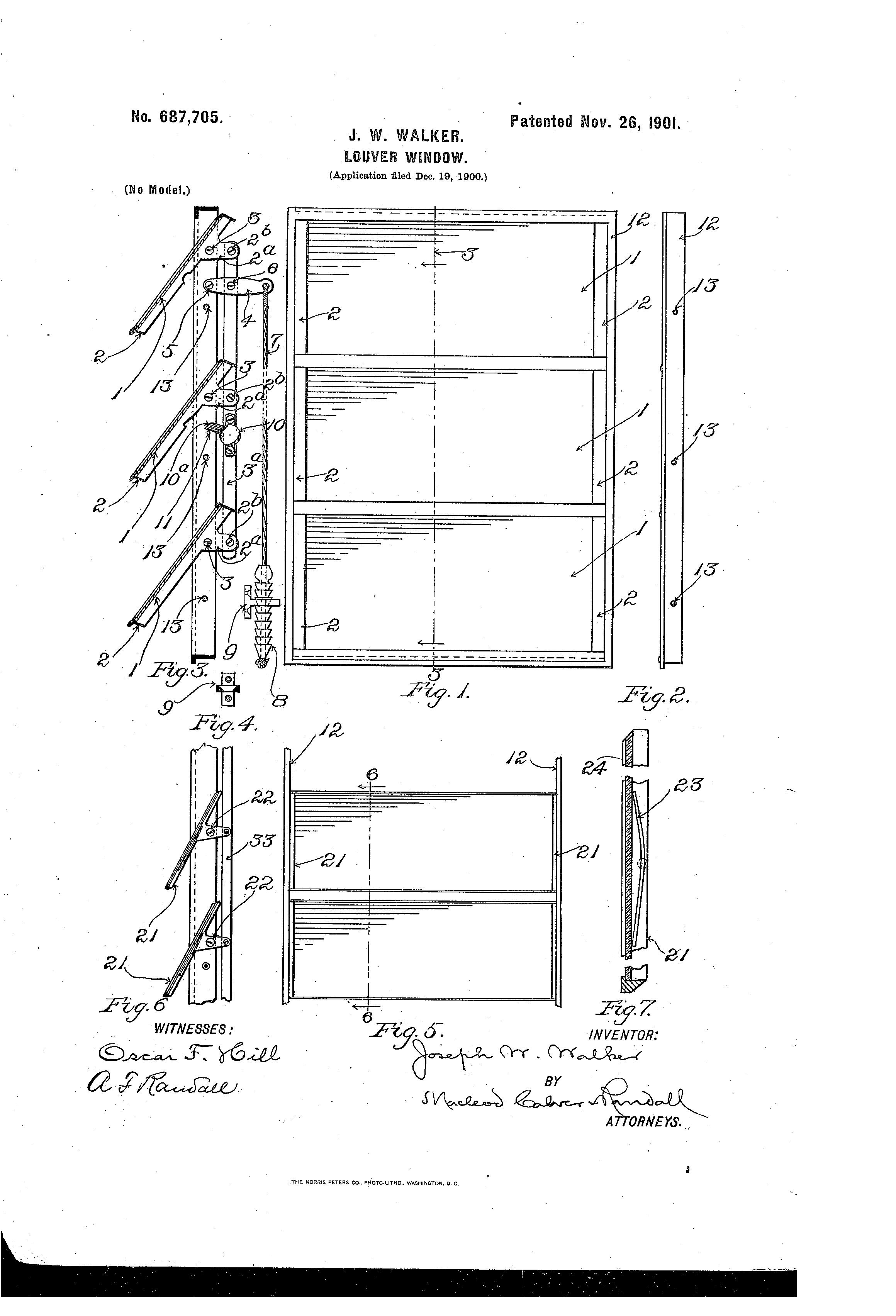 Patent Us687705 Louver Window Google Patents
