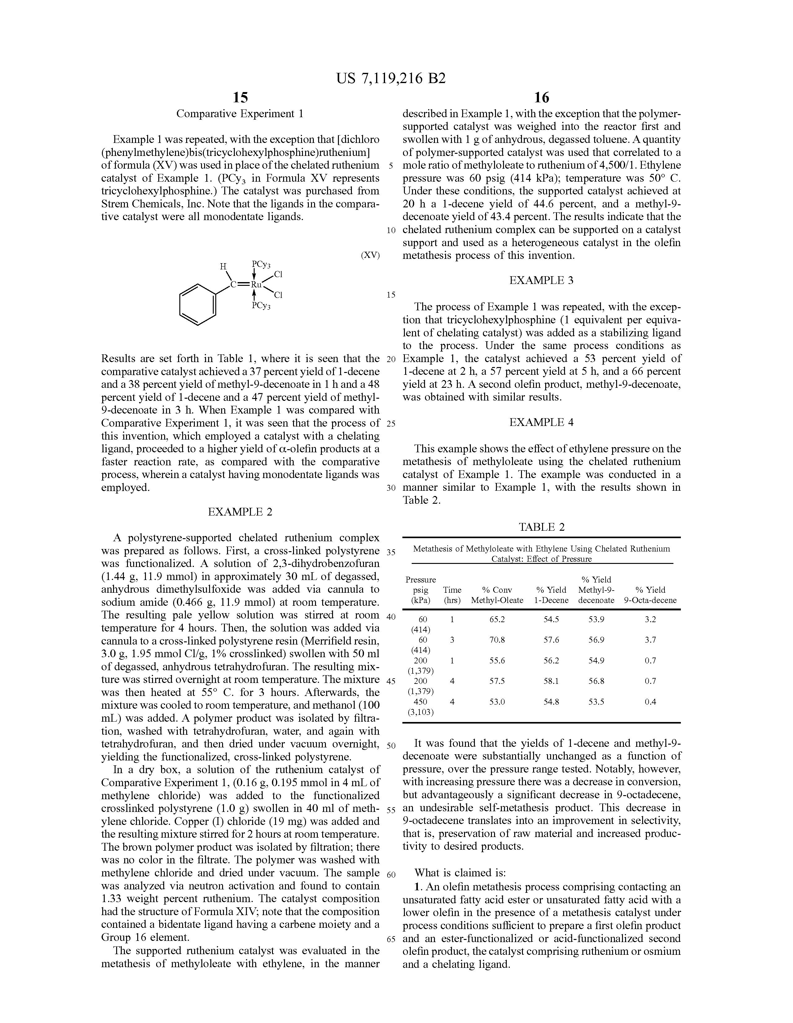 metathesis reactions of fatty acid esters