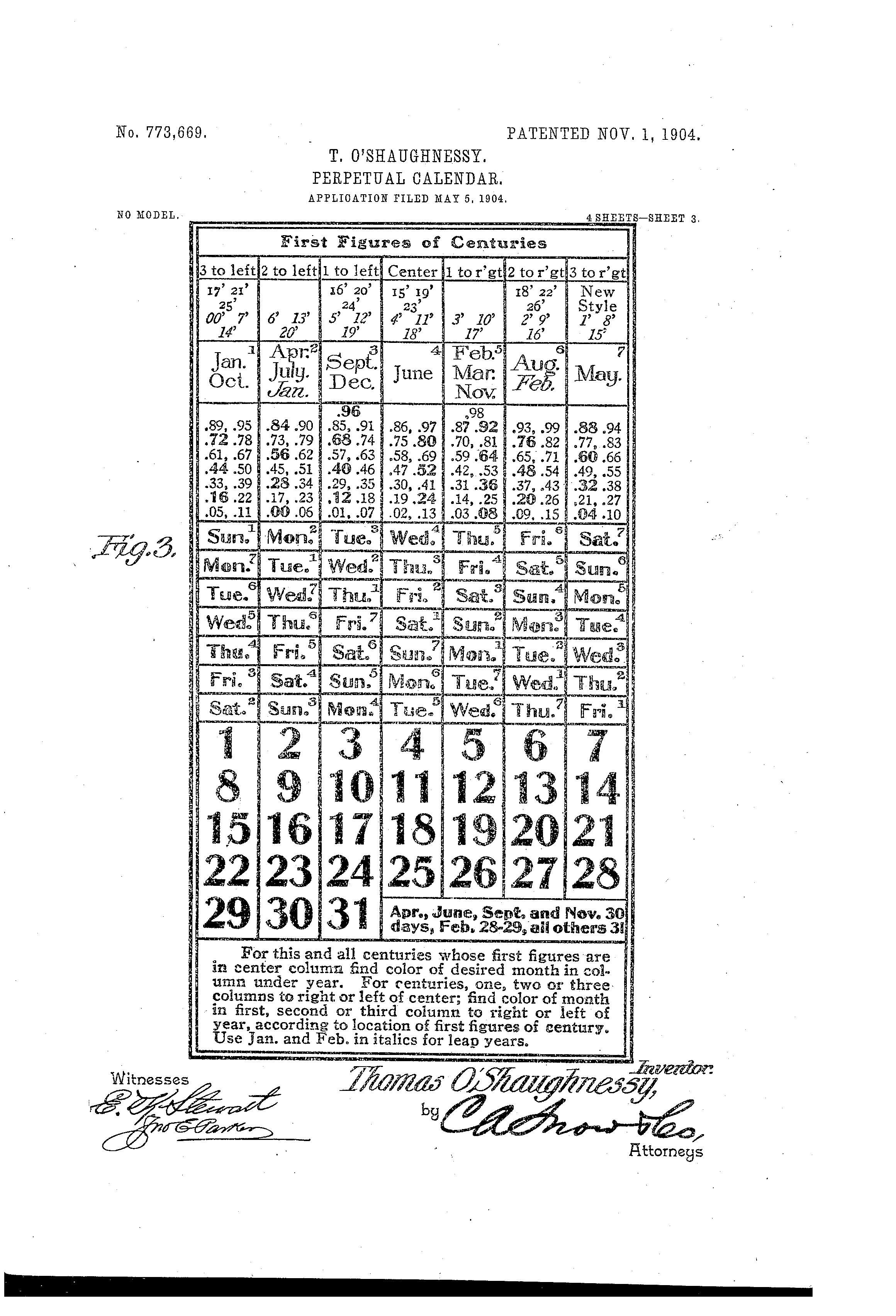 Julian Calendar Perpetual - Viewing Gallery