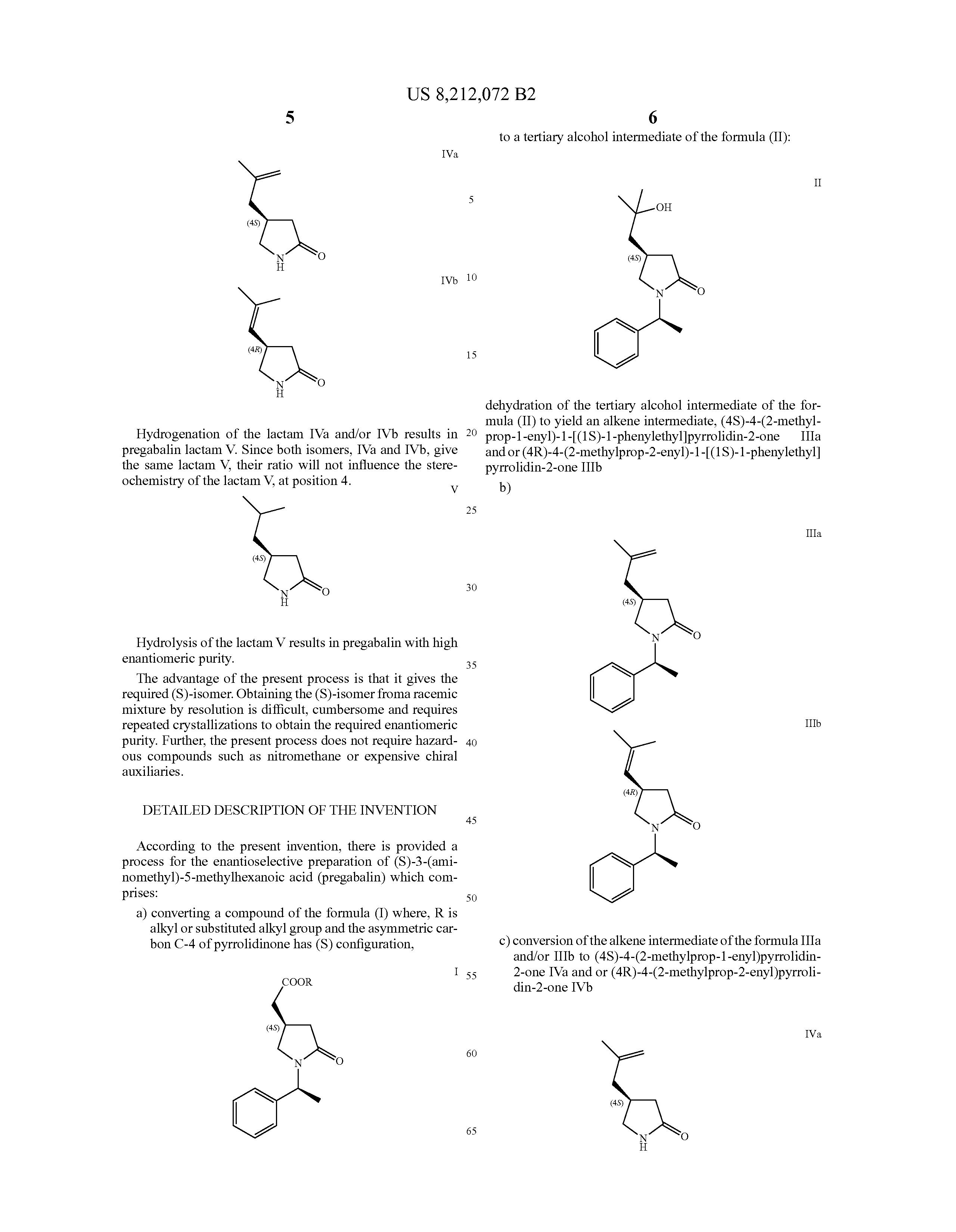 pregabalin s enantiomers