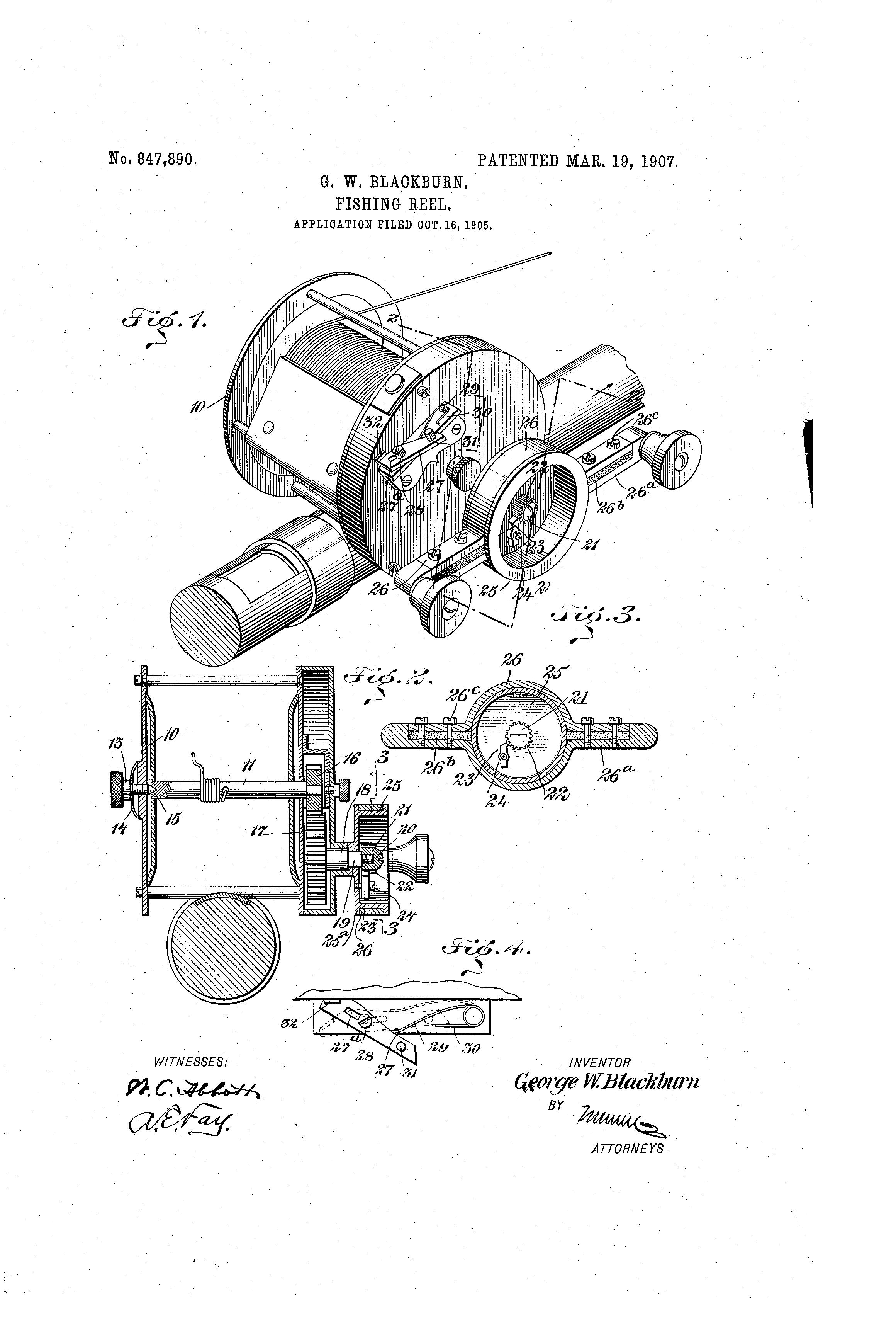 Patent Us847890 Fishing Reel Google Patents