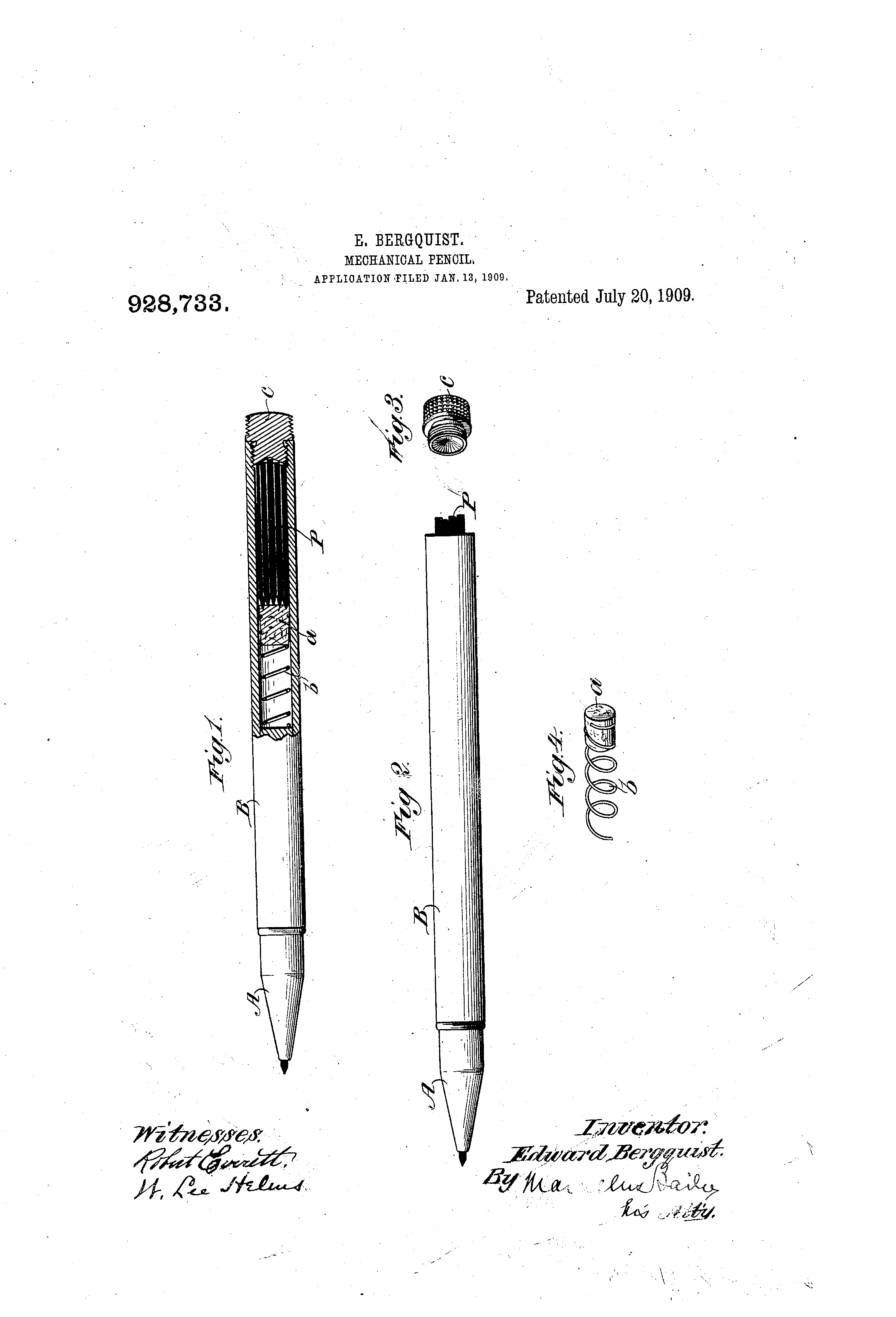 patent us928733 - mechanical pencil