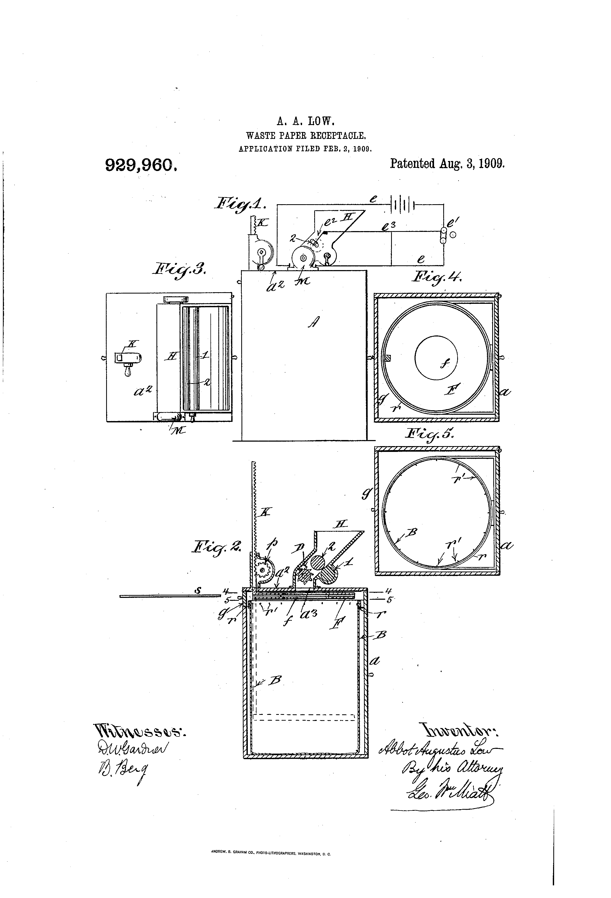 abbot_augustus_low_paper_shredder_patent_United_states_patent_office