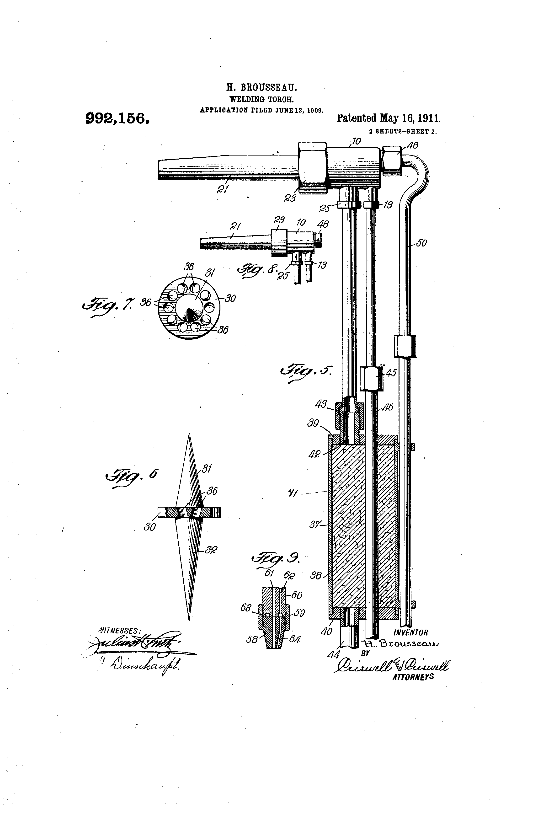 Patent Us992156 Welding Torch Google Patents Diagram Of Drawing
