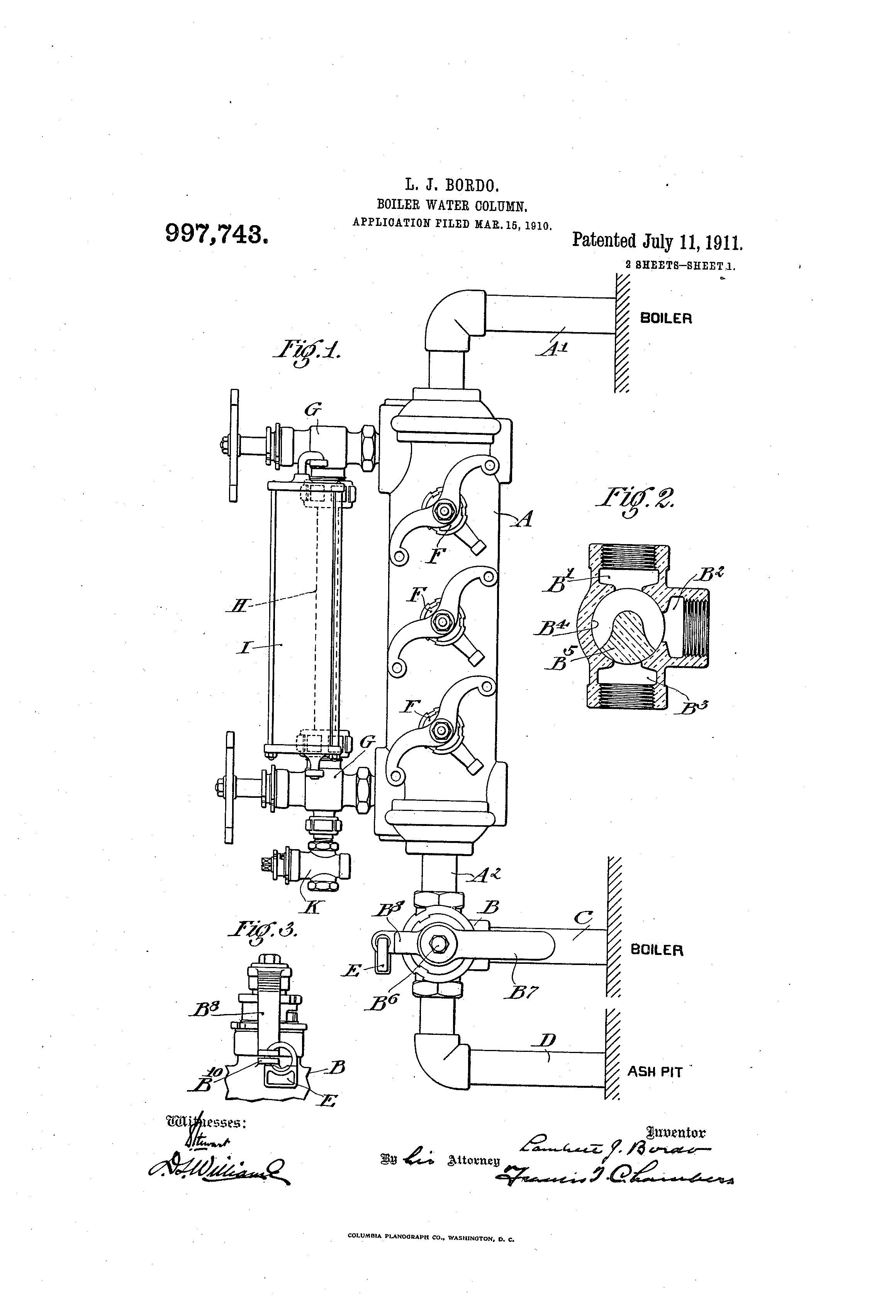 Boiler Water Column ~ Patent us boiler water column google patents