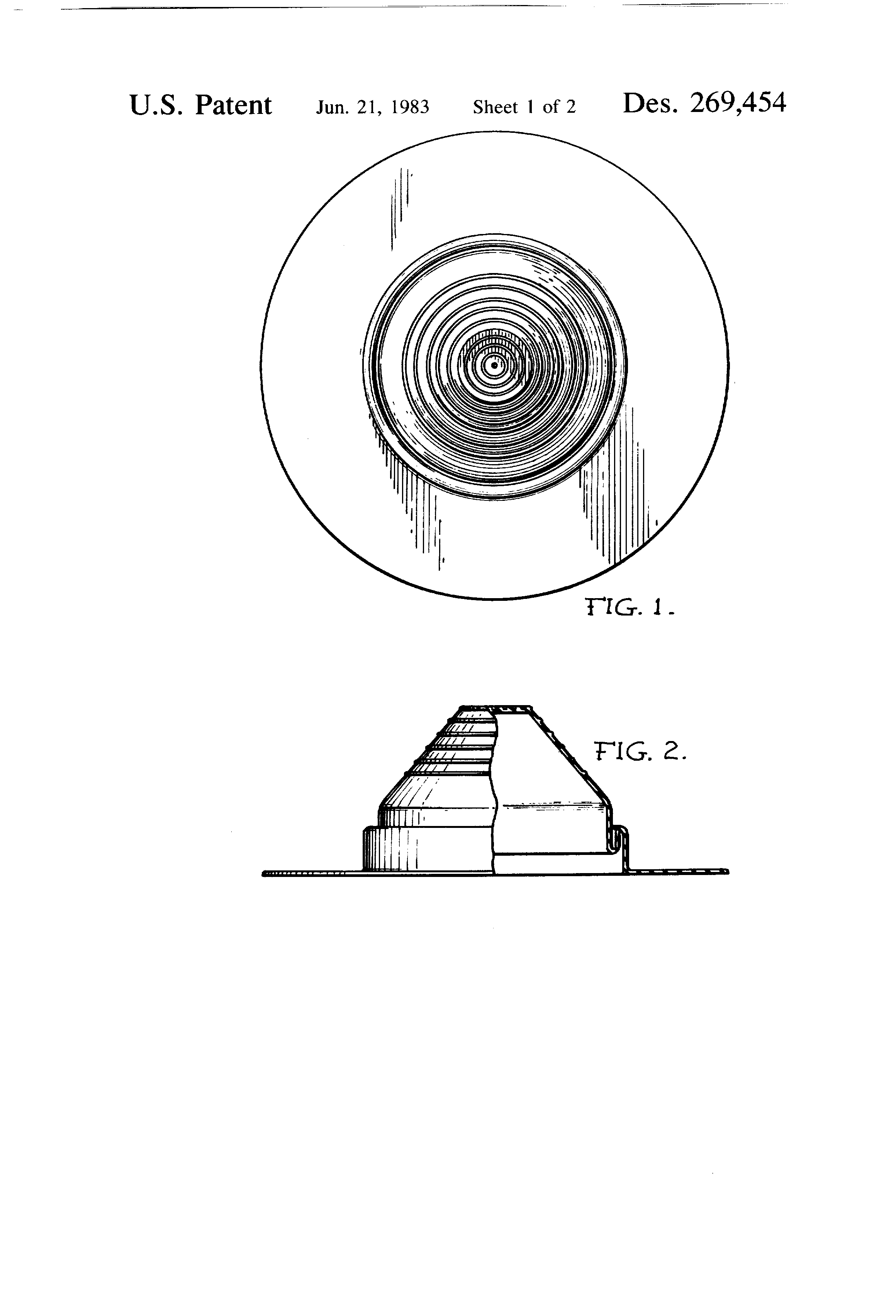 Patent Usd269454 Seal For A Roof Vent Pipe Or Similar