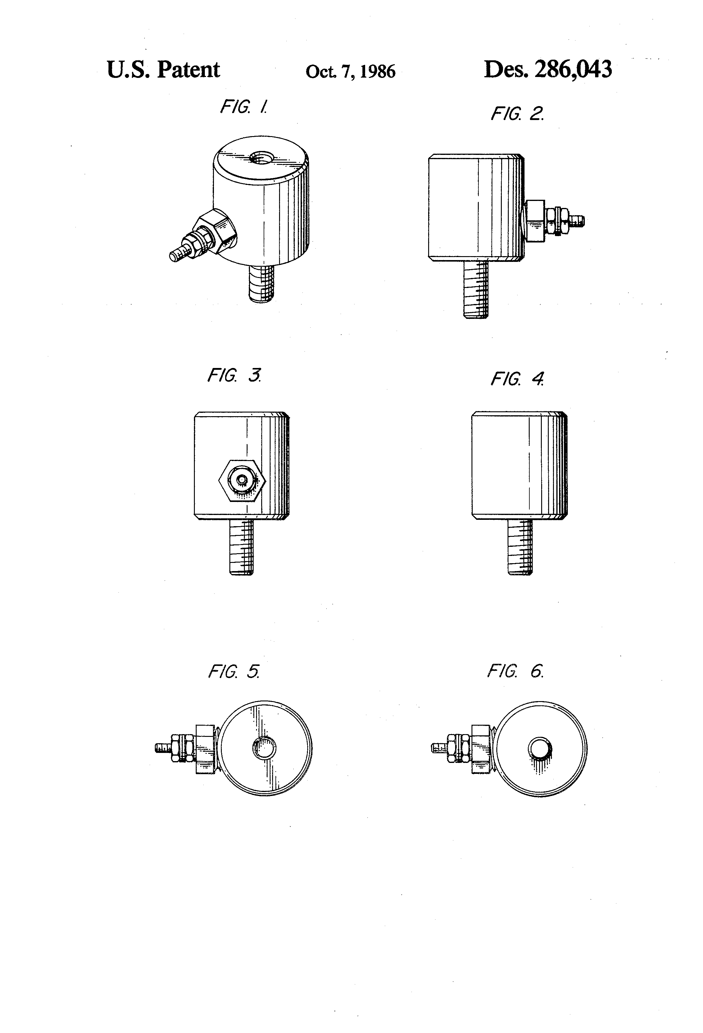 Patent Usd286043 Combined Antenna Adaptor And Lightning Arrester Diagram Of Lighting Drawing