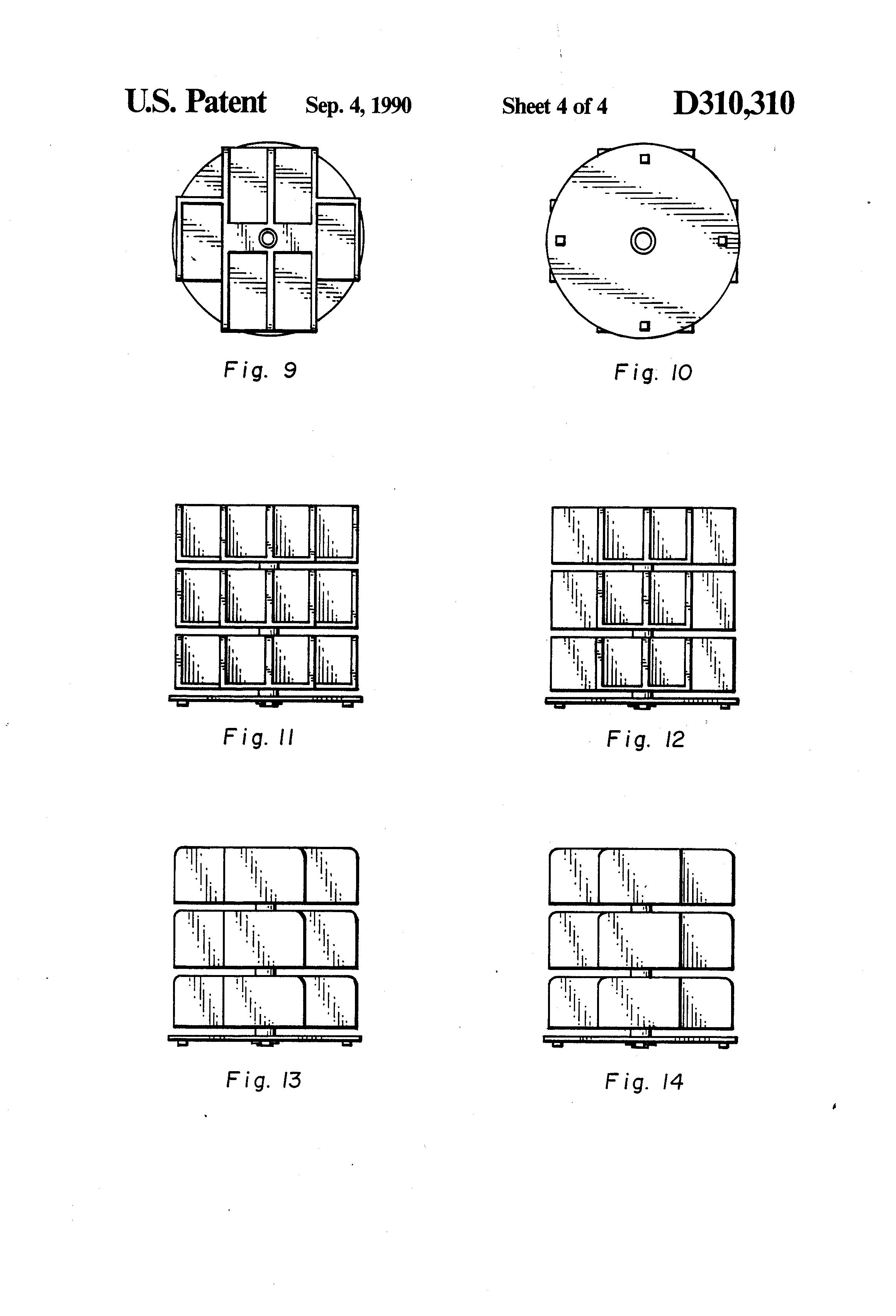 Patent USD310310 - Shoe carousel - Google Patents