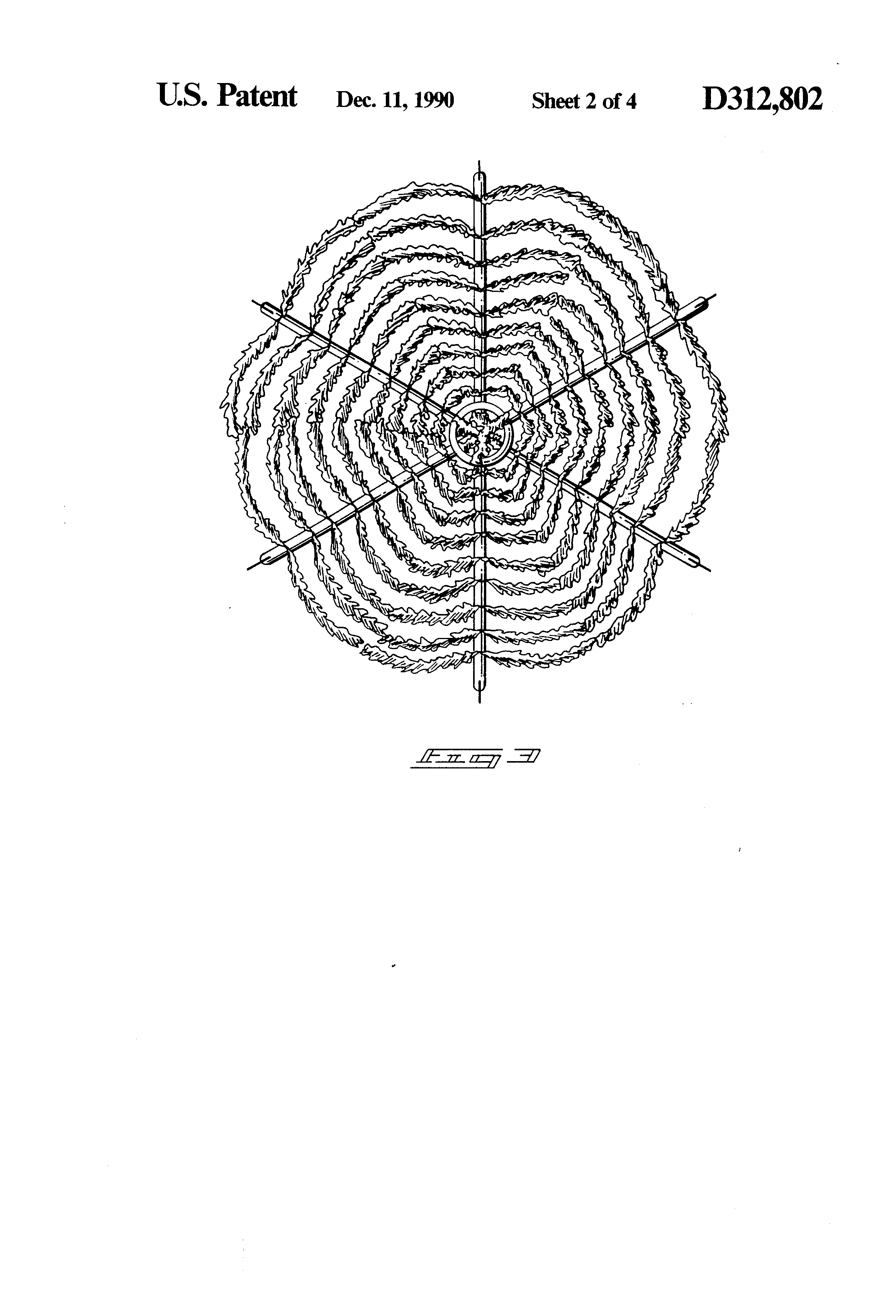 patent usd312802 - artificial tree cover for septic tank vent pipe