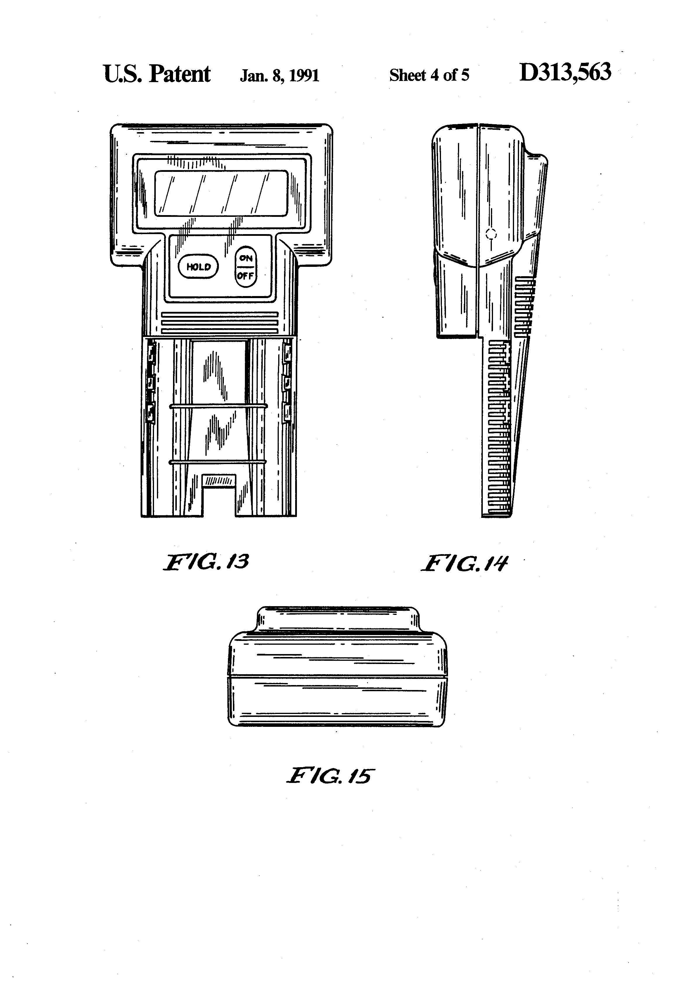 patent usd313563