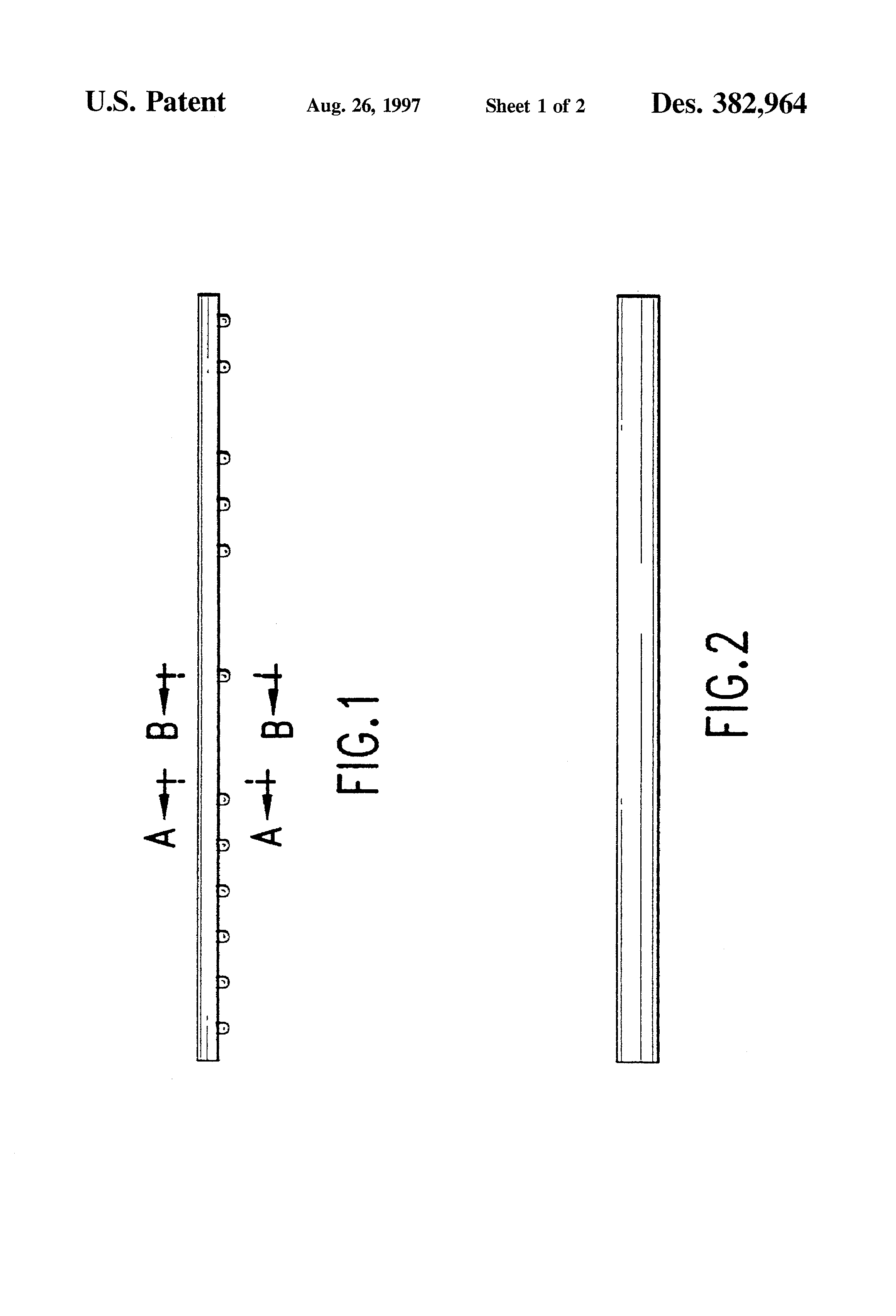 Patent USD382964 - Cosmetic cover for labial arch wire on ...