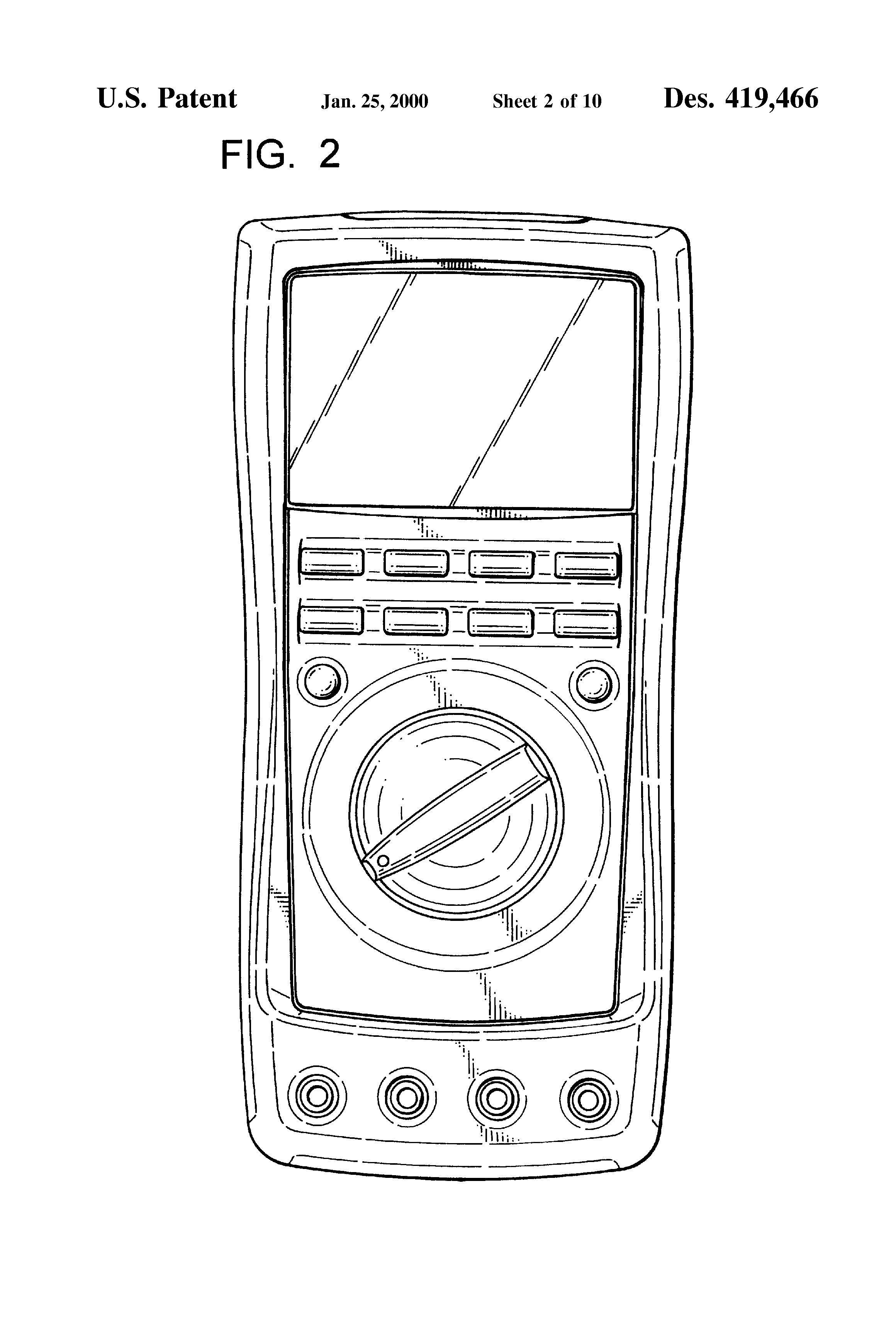 patent usd419466 - digital multimeter