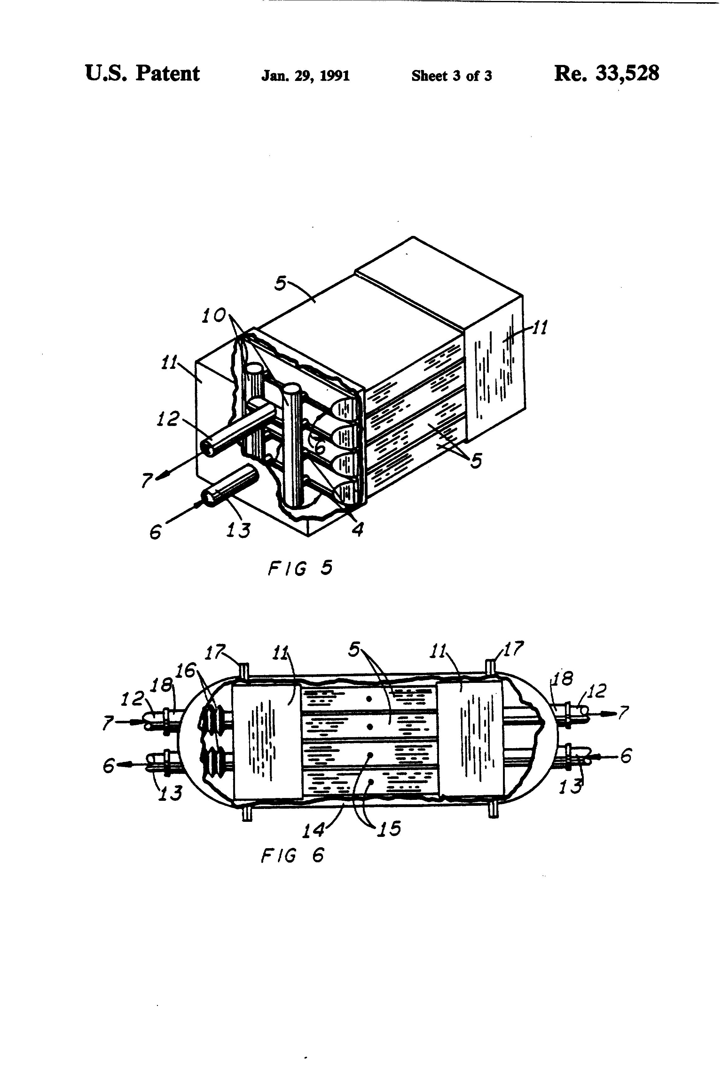 patent usre33528 - microtube-strip heat exchanger