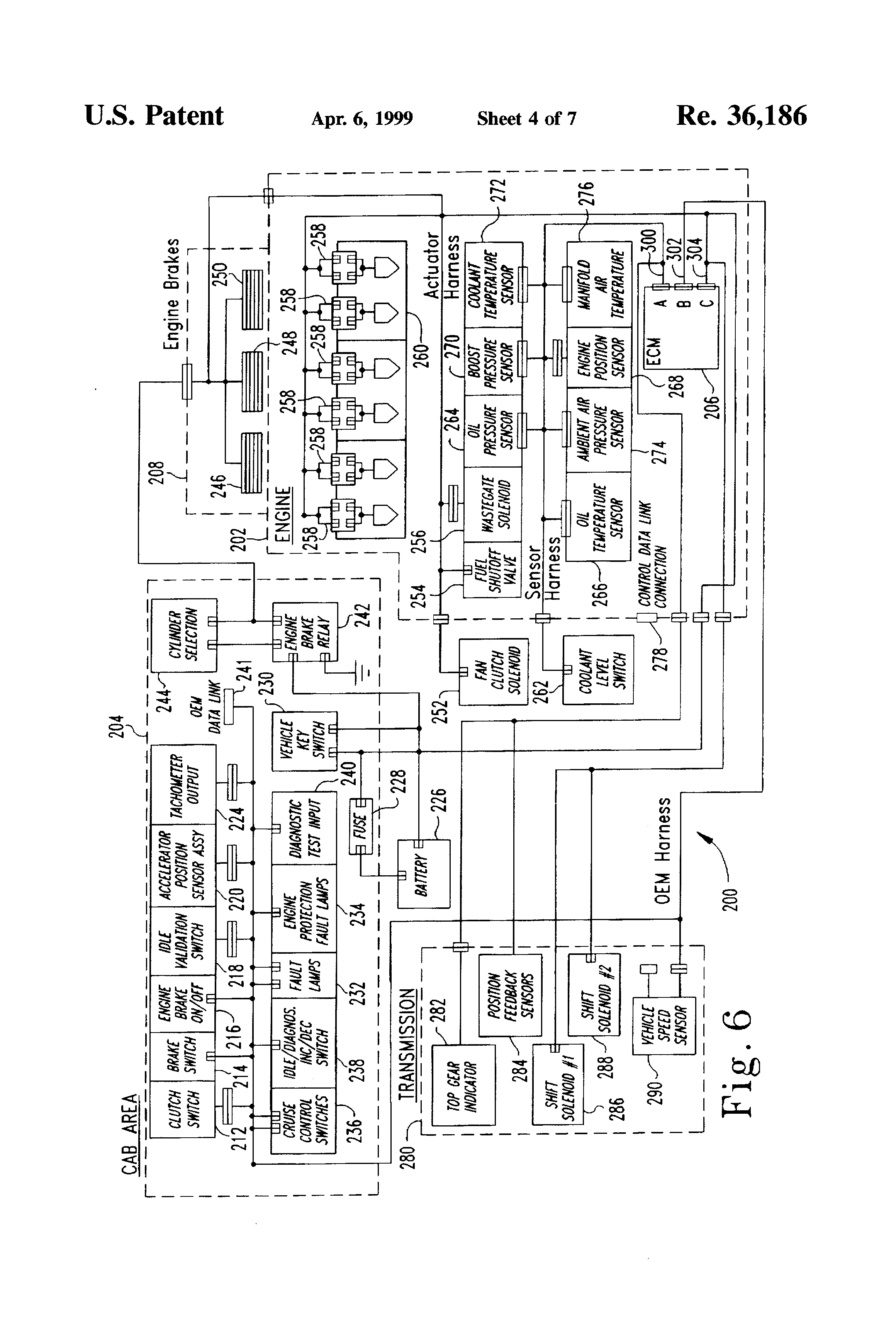 USRE36186 4 patent usre36186 method and device for controlling critical eaton autoshift wiring diagram at bakdesigns.co