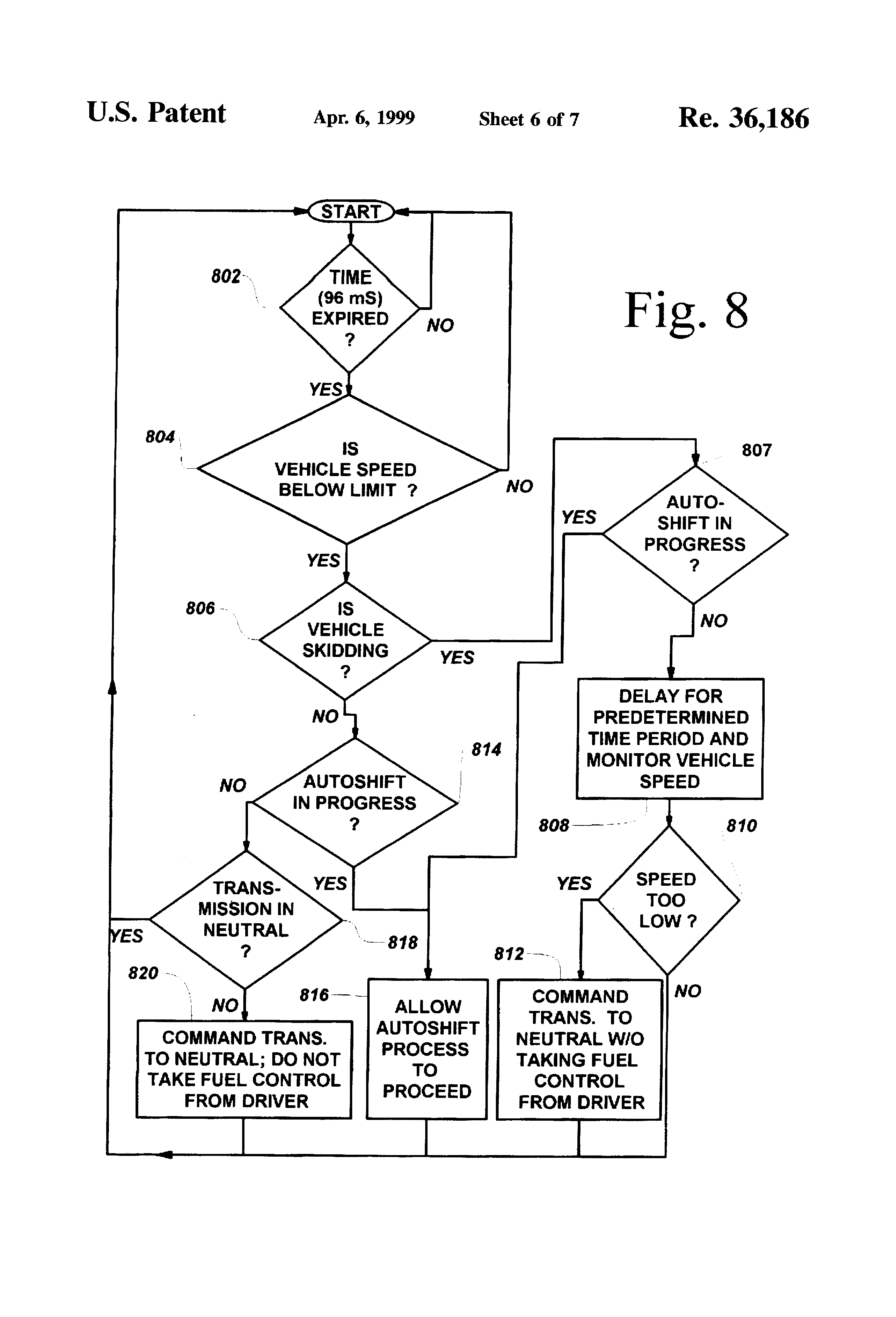 USRE36186 6 patent usre36186 method and device for controlling critical eaton autoshift wiring diagram at creativeand.co