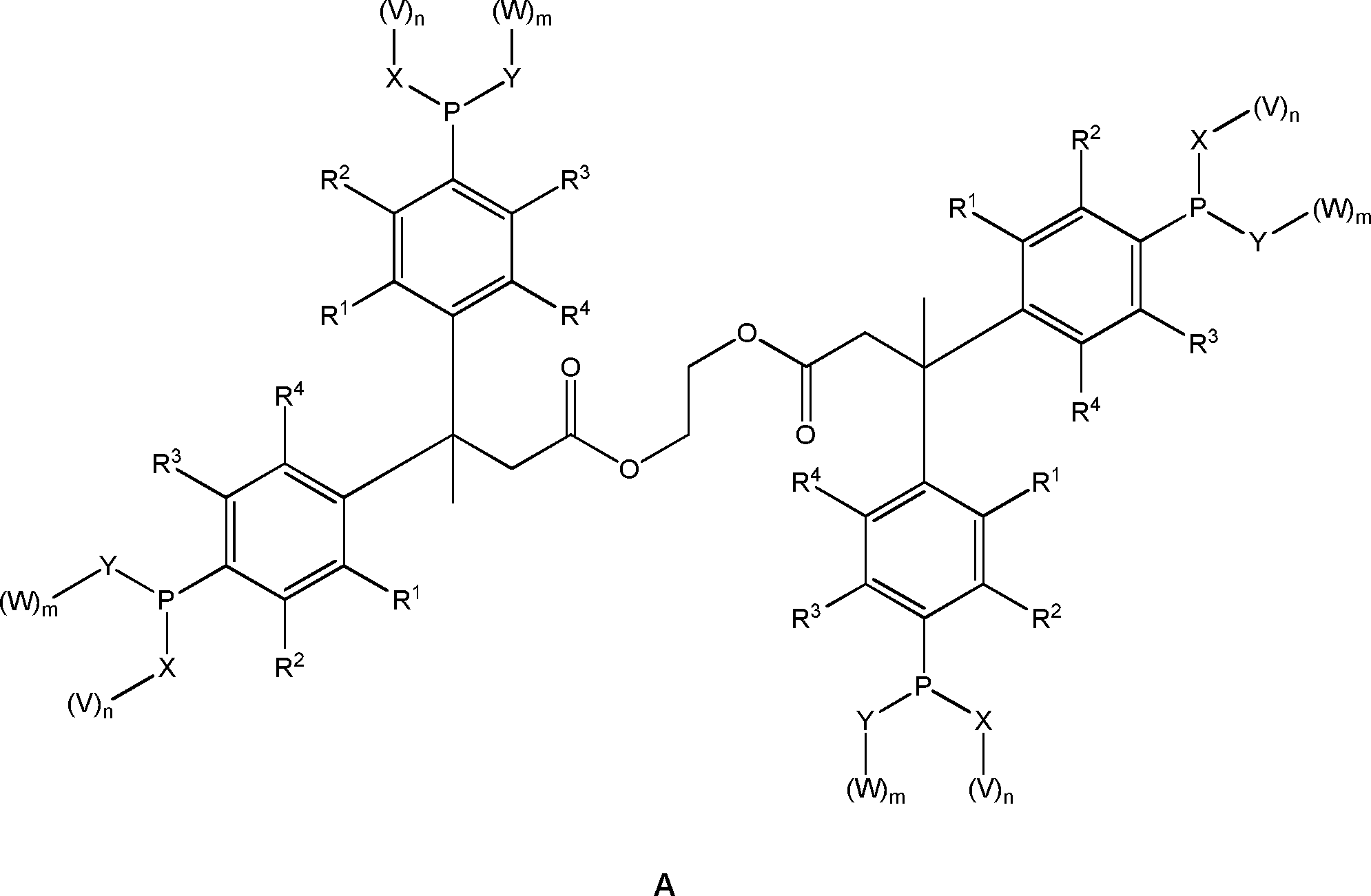DE102014206520A1 - New tetradentate phosphorus ligands with Hostanox ...