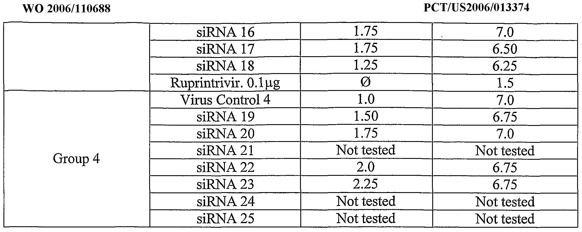 WO2006110688A9 - Rnai therapeutic for respiratory virus