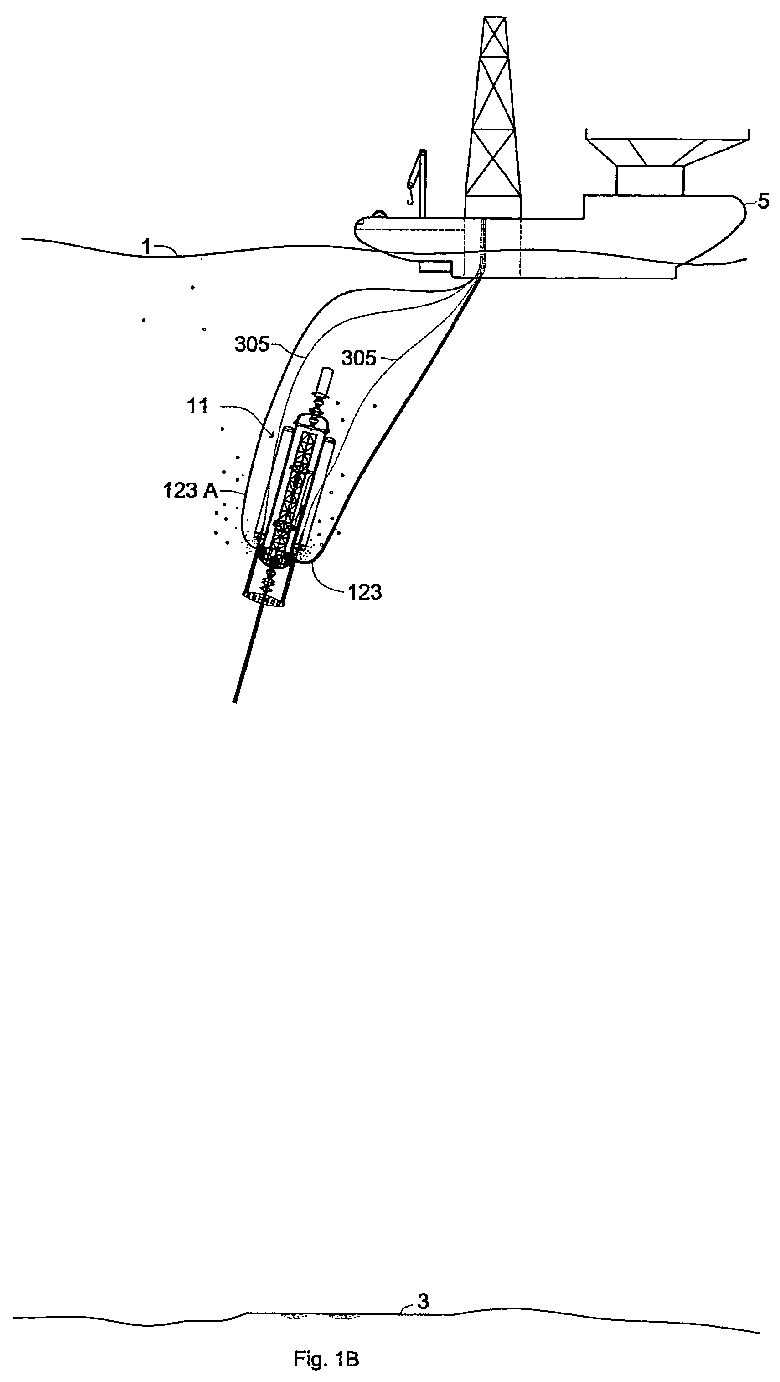 EP1914379A1 - Underwater seafloor drilling rig - Google Patents