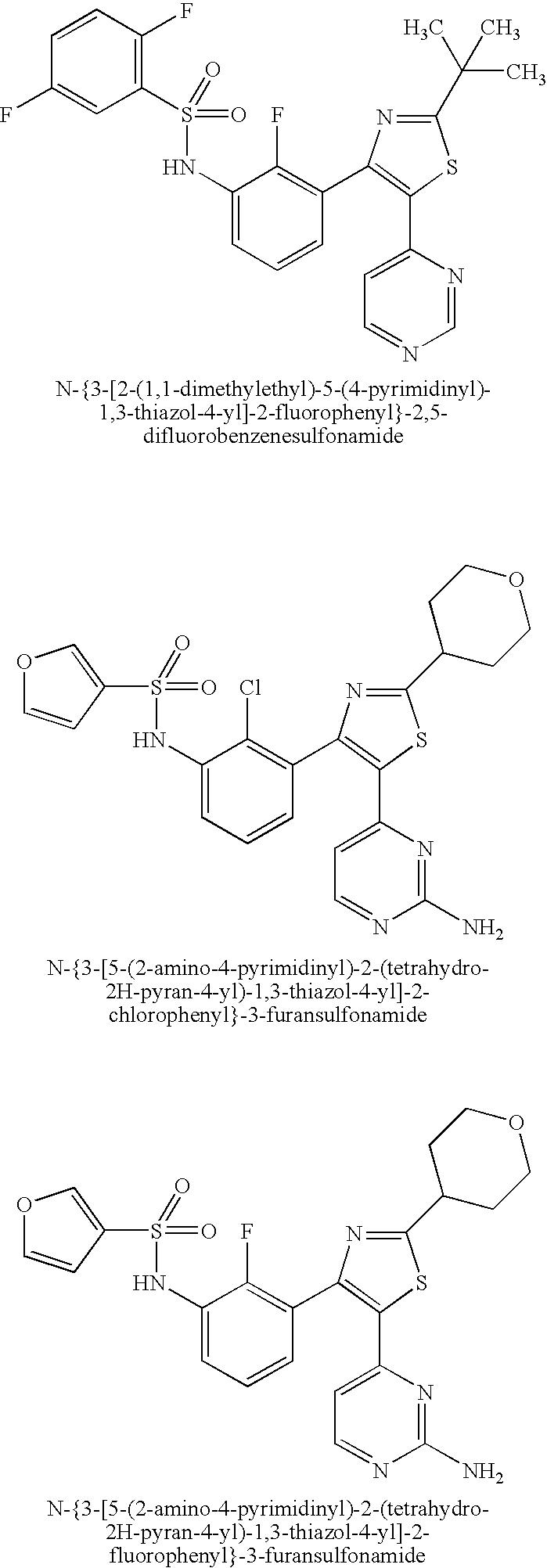 Us20090298815a1 Benzene Sulfonamide Thiazole And Oxazole Compounds Bolens G174 Wiring Diagram Figure 20091203 C00011