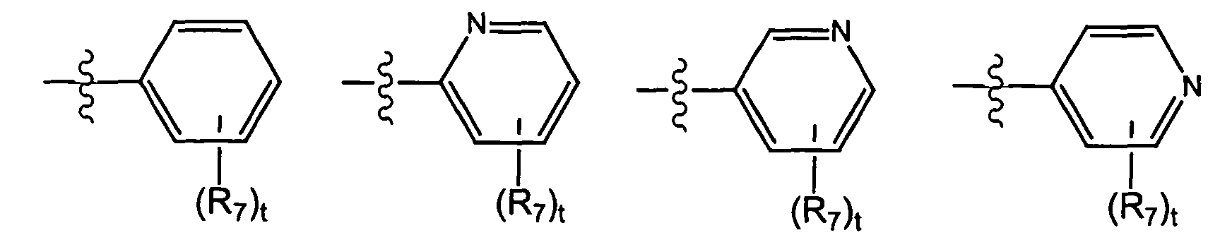 t is 0 1 2 3 4 or 5 and each r 7 is independently selected from the group consisting of halo perhalo c 1 10 alkyl cf 3 c 1 10 alkyl alkenyl