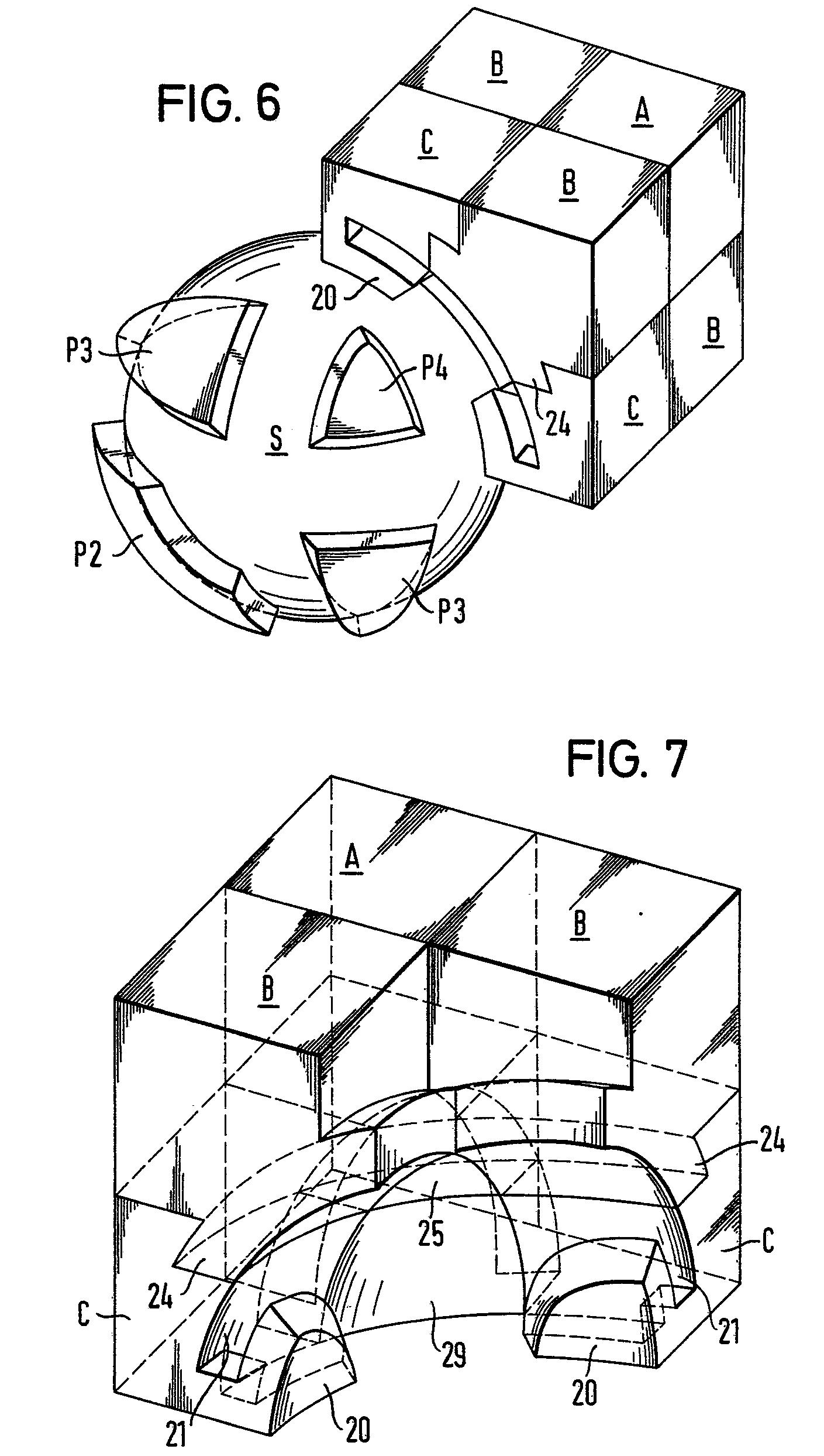 rancangan desain dan mekanisme rubik's 4x4x4 revenge