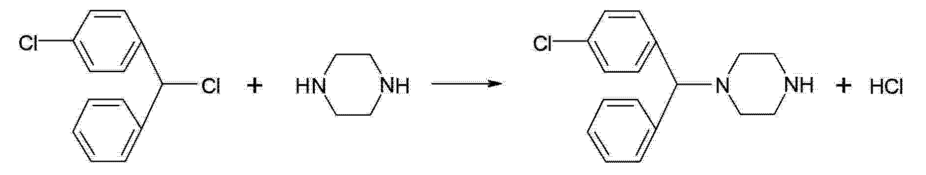 CN103772321A - Synthesis method for meclozine and synthesis