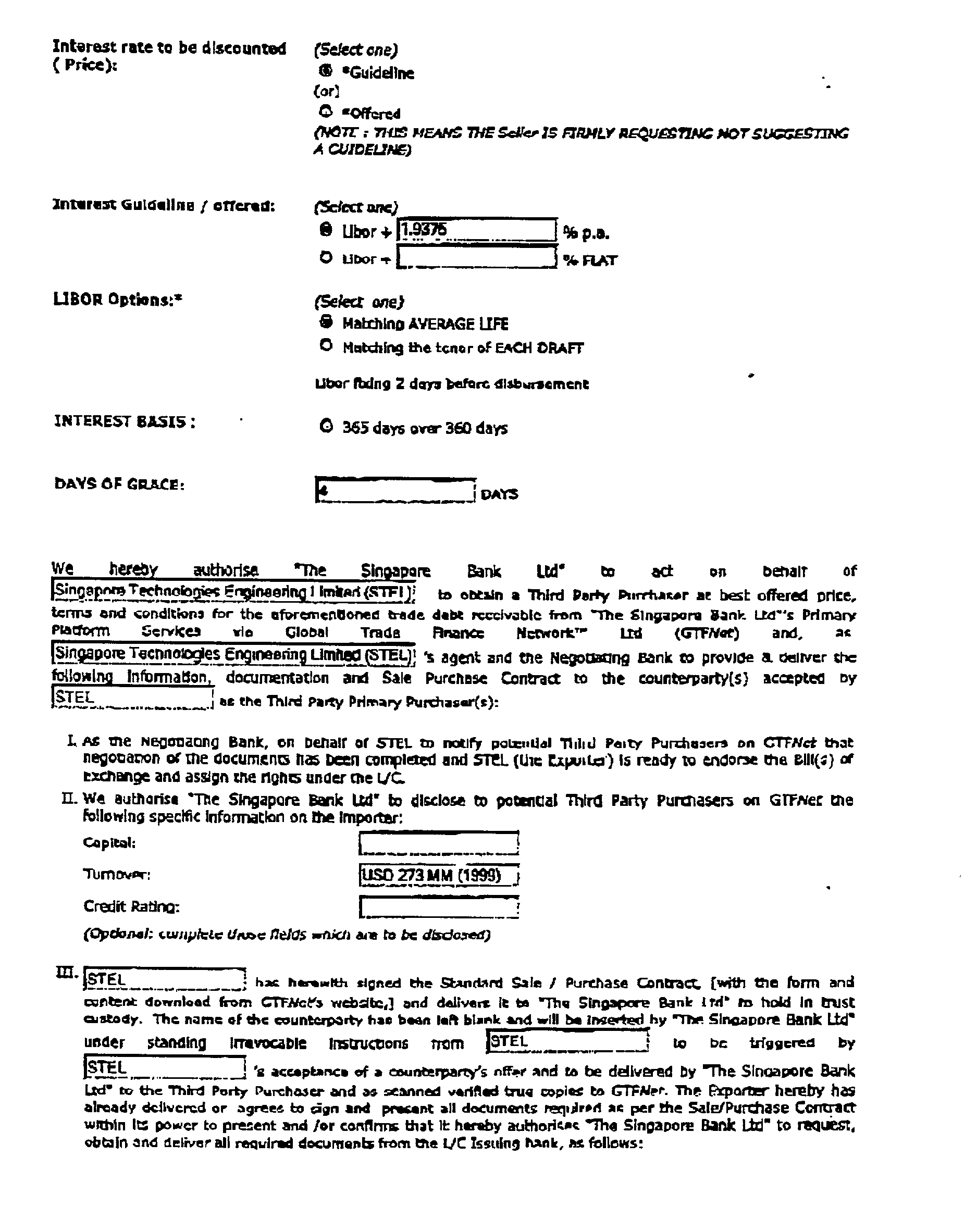 US20030140005A1 - Forfaiting transactions - Google Patents