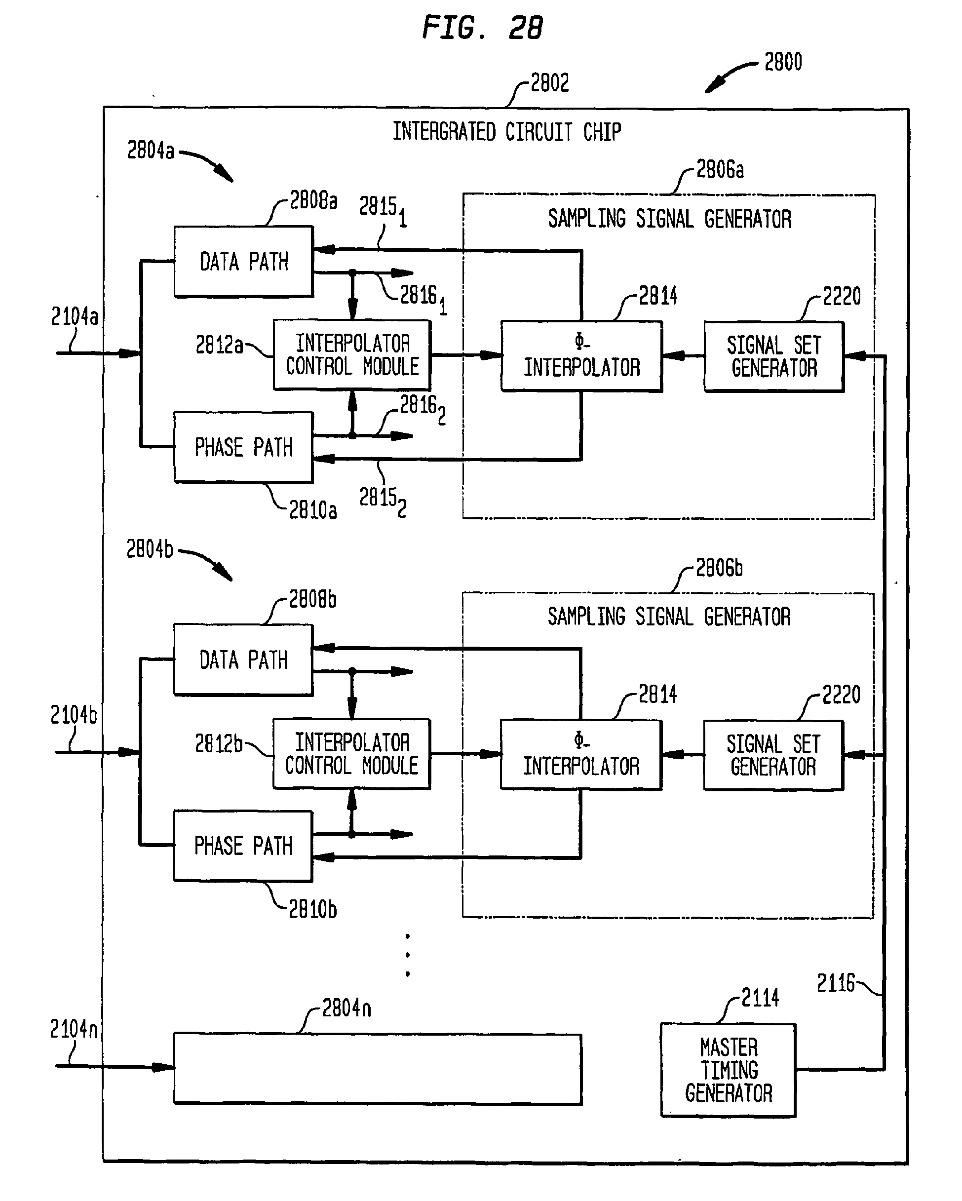 EP2104232A2 - Phase interpolator for high-speed serial data
