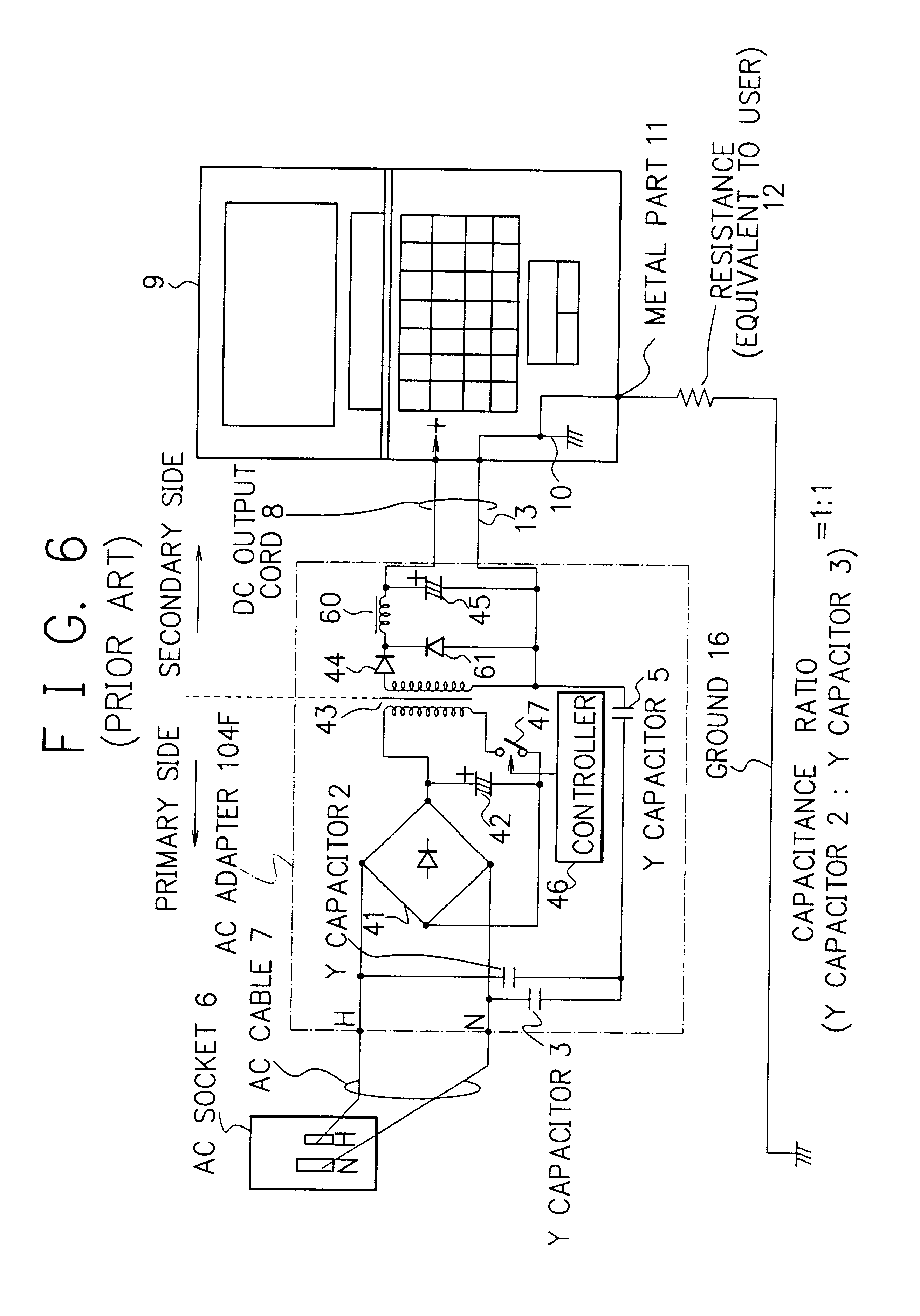 Us6603317b2 Leakage Current Reduction Circuit And Power Supply Example Smoothing Capacitor Employing The Same Google Patents