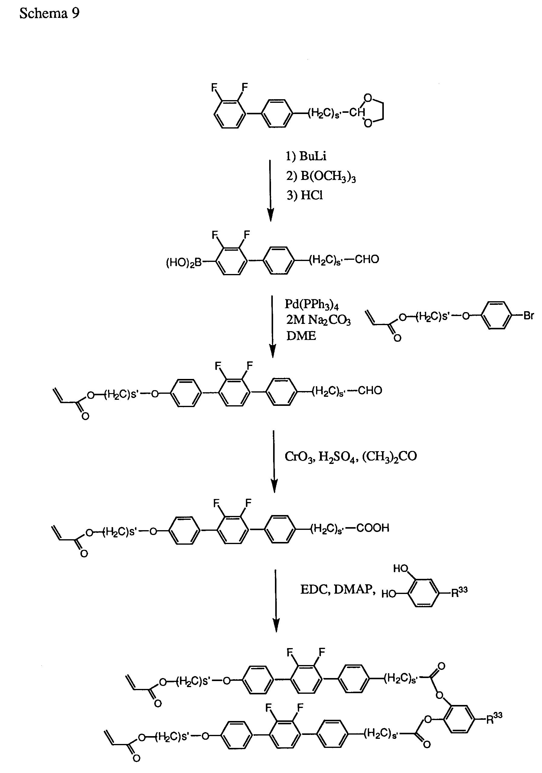 EP0755918A2 - Photocrosslinkable liquid crystalline 1,2