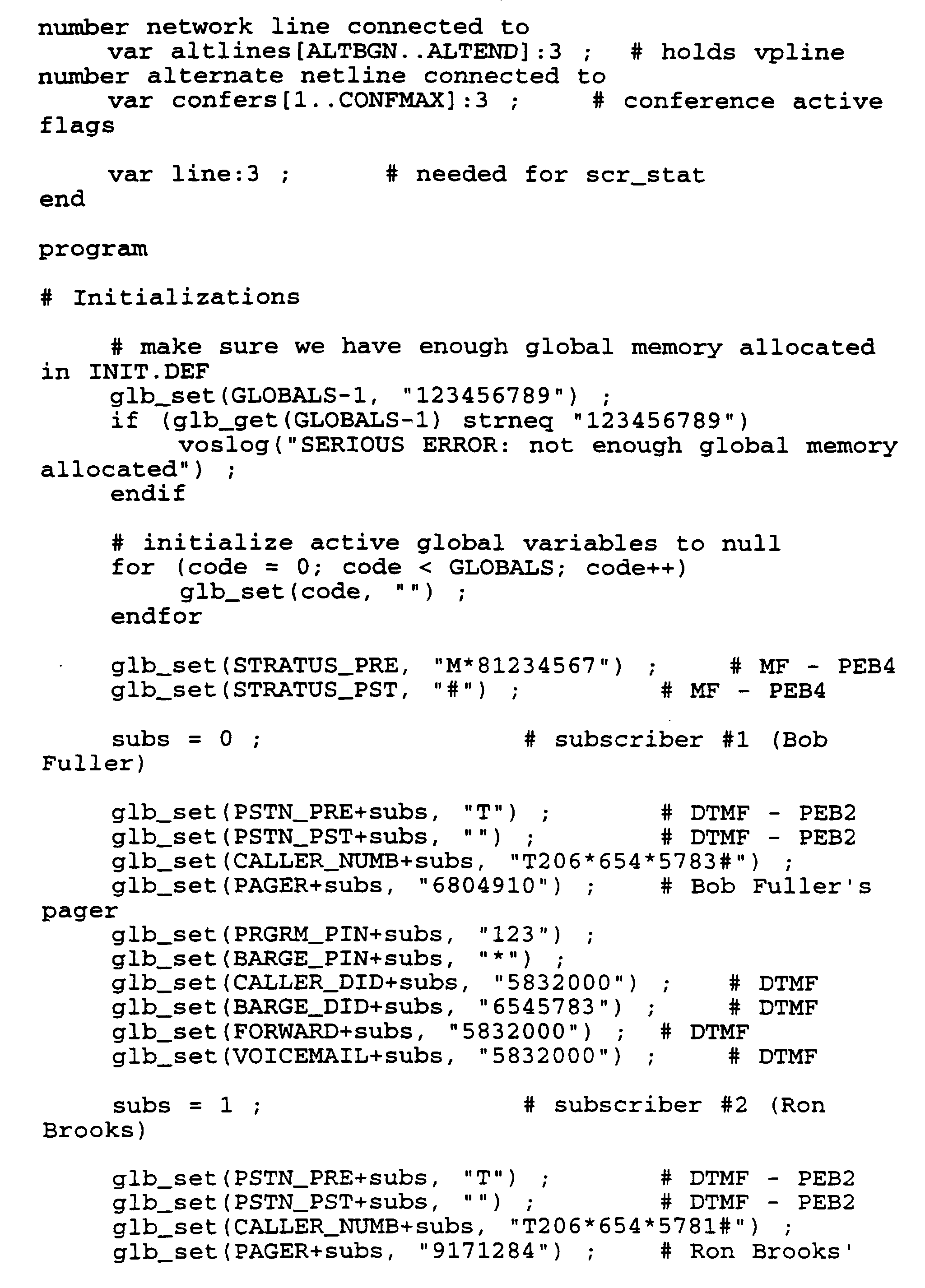 WO1996009731A1 - Computer controlled paging and telephone