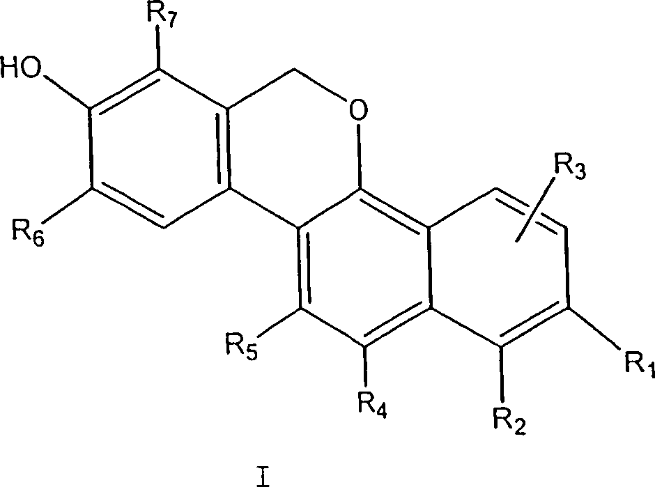 DE60204482T2 - agents substituted 6H-dibenzo [c, h] chromenes as